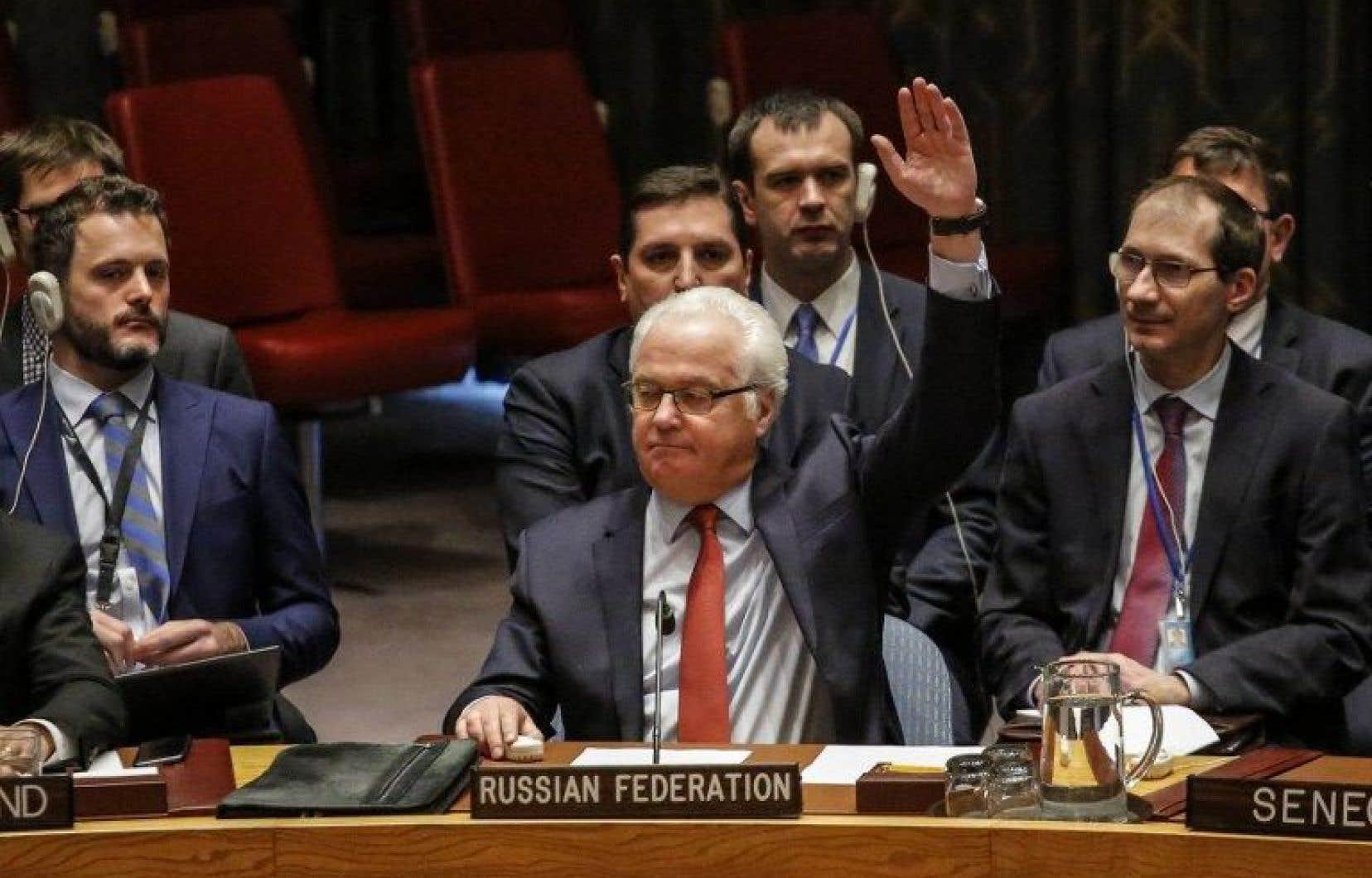 L'ambassadeur russe aux Nations unies, Vitaly Chourkine