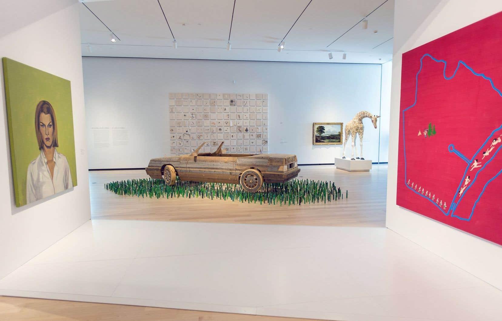 Œuvres exposées dans le pavillon Pierre-Lassonde, inauguré en juin dernier, au Musée national des beaux-arts du Québec