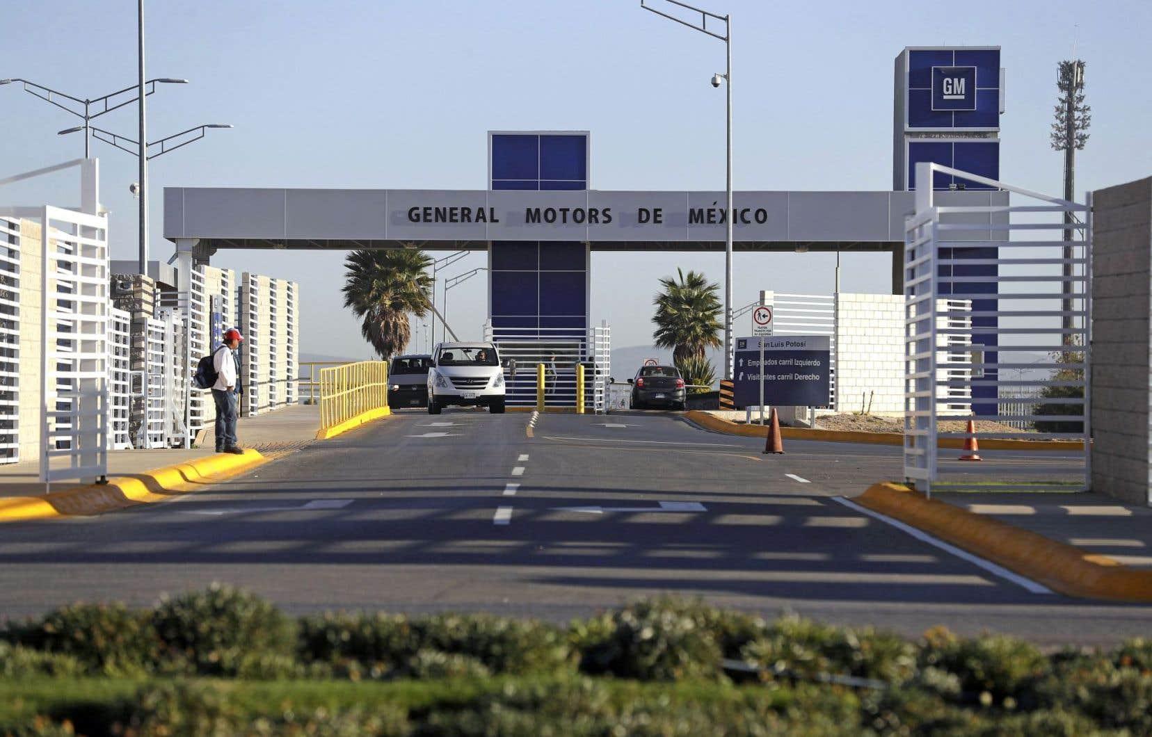 L'une des usines de GM, à San Luis Potosi, au Mexique