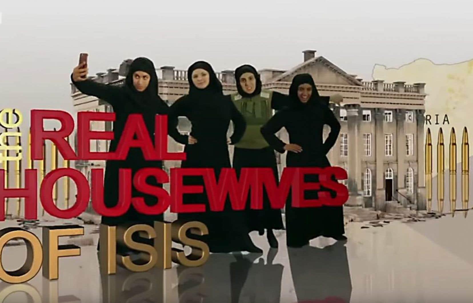 Le sketch satirique «The Real Housewives of ISIS», diffusé dans l'émission «Revolting», met en scène quatre femmes, toutes mariées à des membres du groupe État islamique de l'Irak ou de la Syrie.