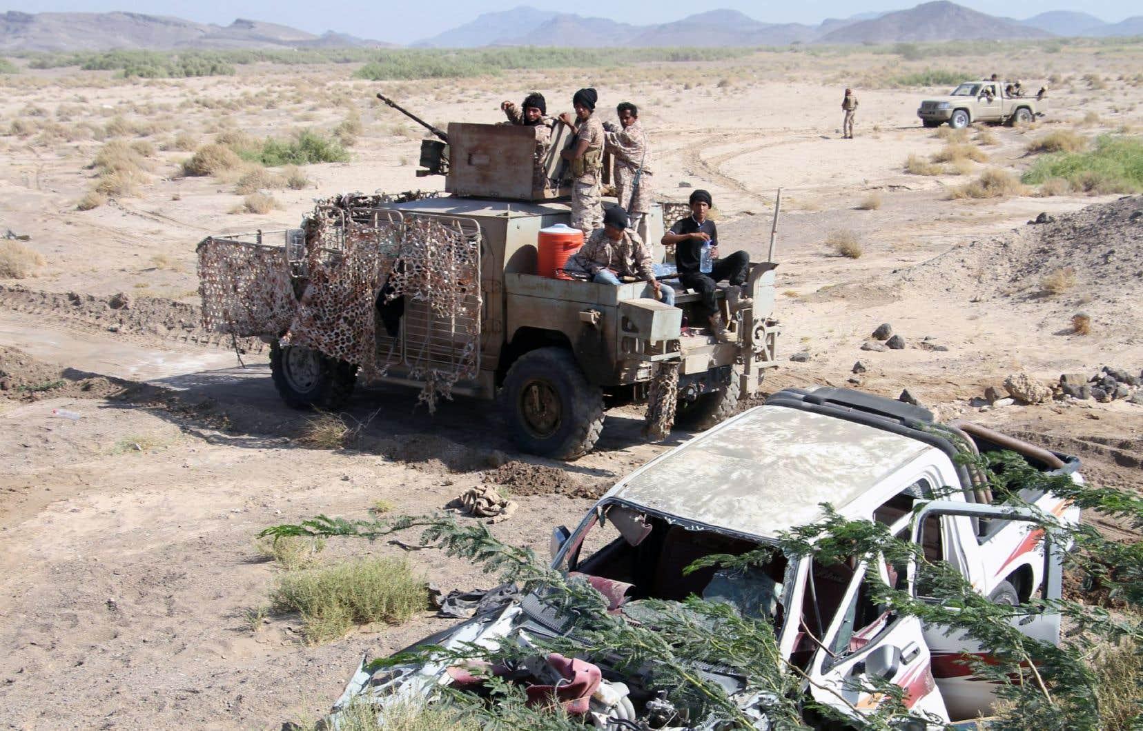 Les forces loyales au président Abd Rabbo Mansour Hadi ont conquis samedi la région de Dhubab.