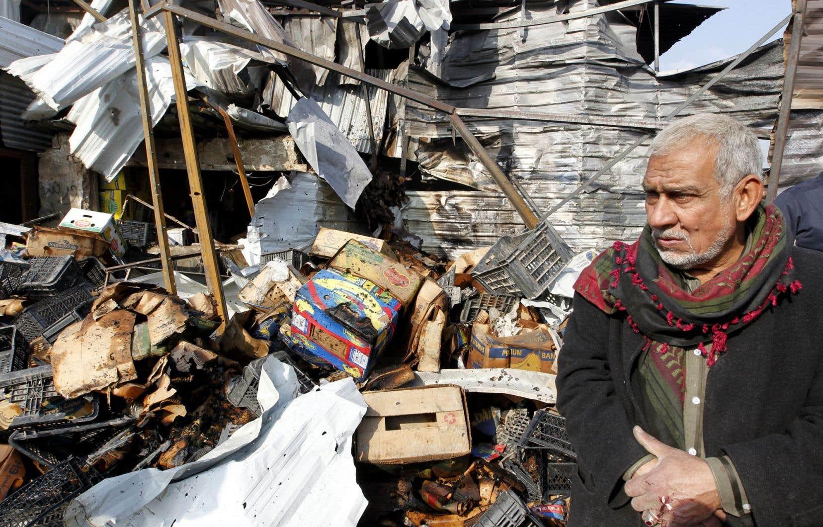 Le groupe armé EI a notamment ciblé un marché de Bagdad.