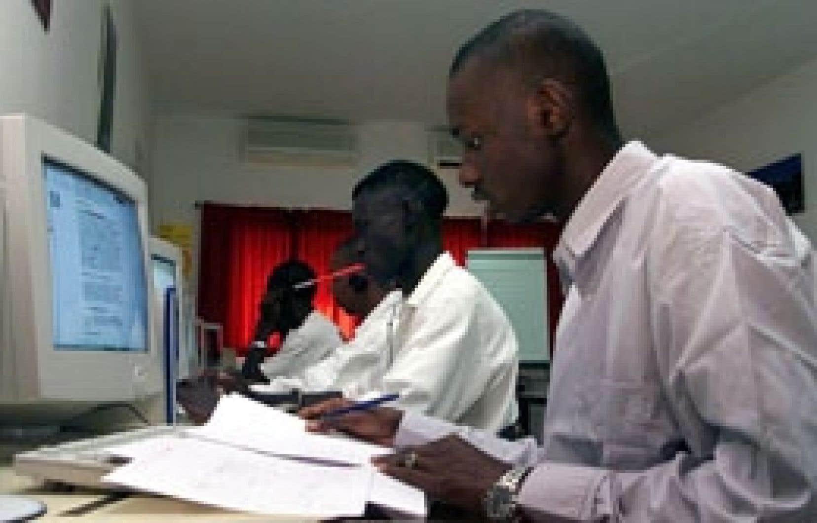 Des étudiants de l'Université de Dakar