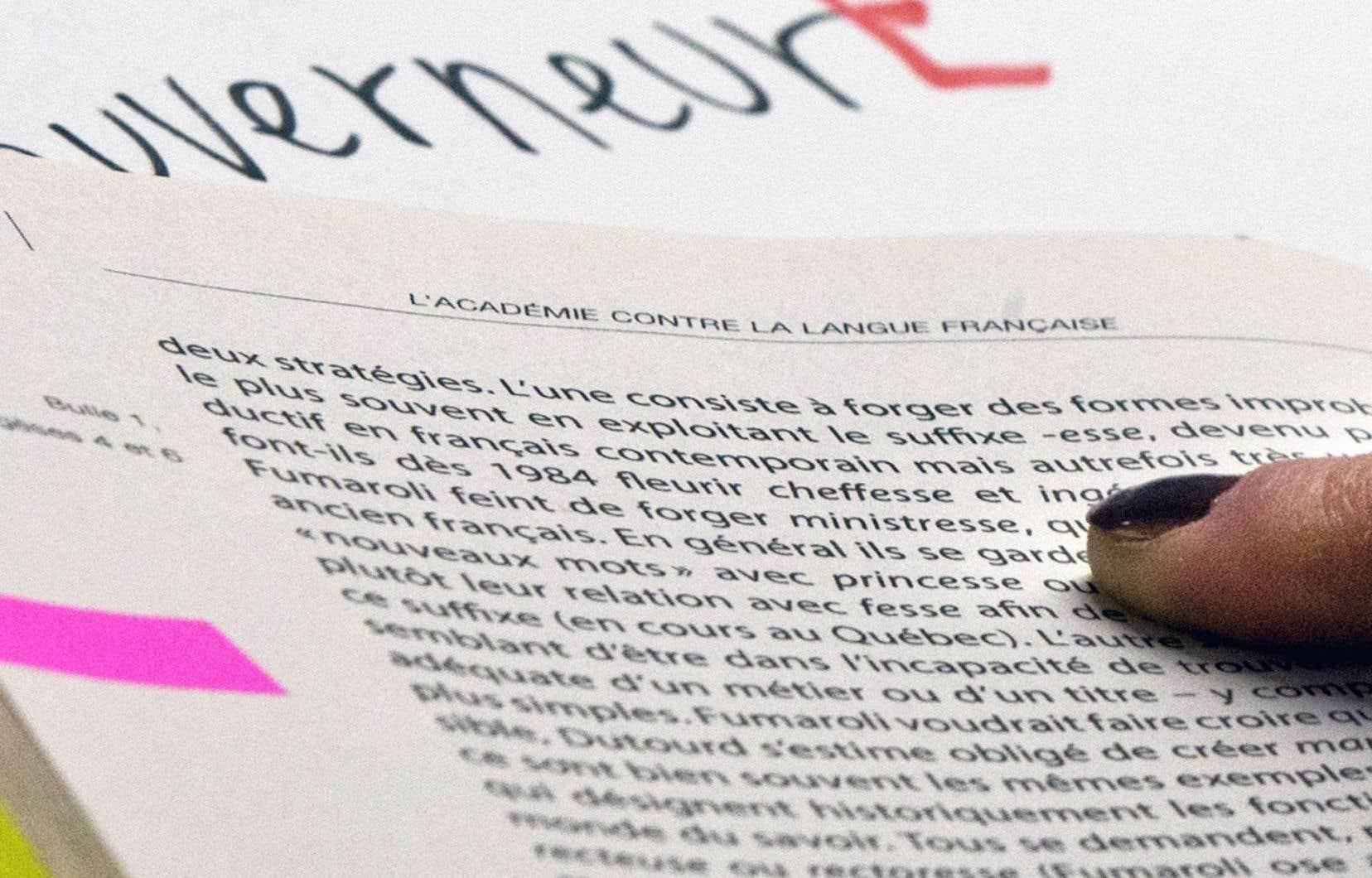 Confusion Entre Genre Grammatical Et Sexe Le Devoir