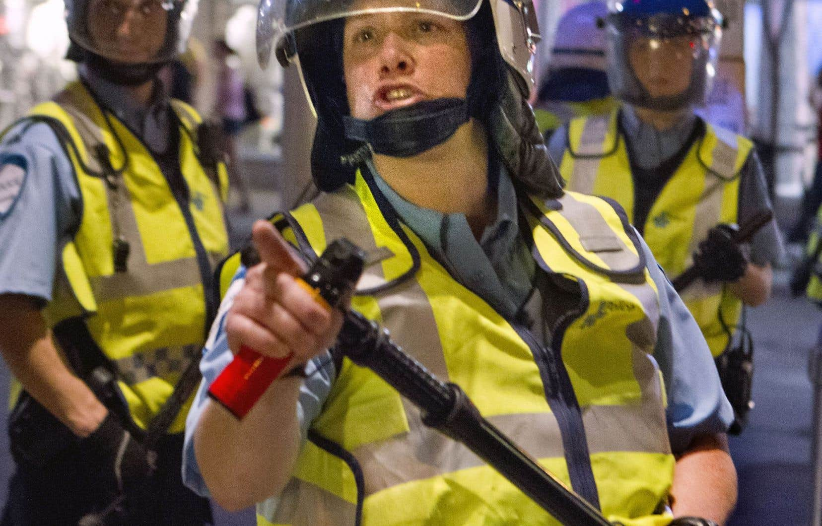 L'incident remonte au 20mai 2012, le jour où MmeTrudeau a été filmée en train d'asperger un manifestant de poivre de cayenne.