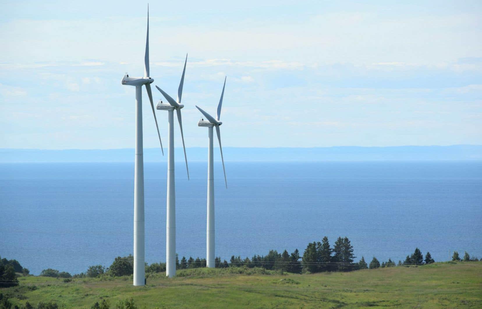 Éoliennes à Cap-Chat, en Gaspésie