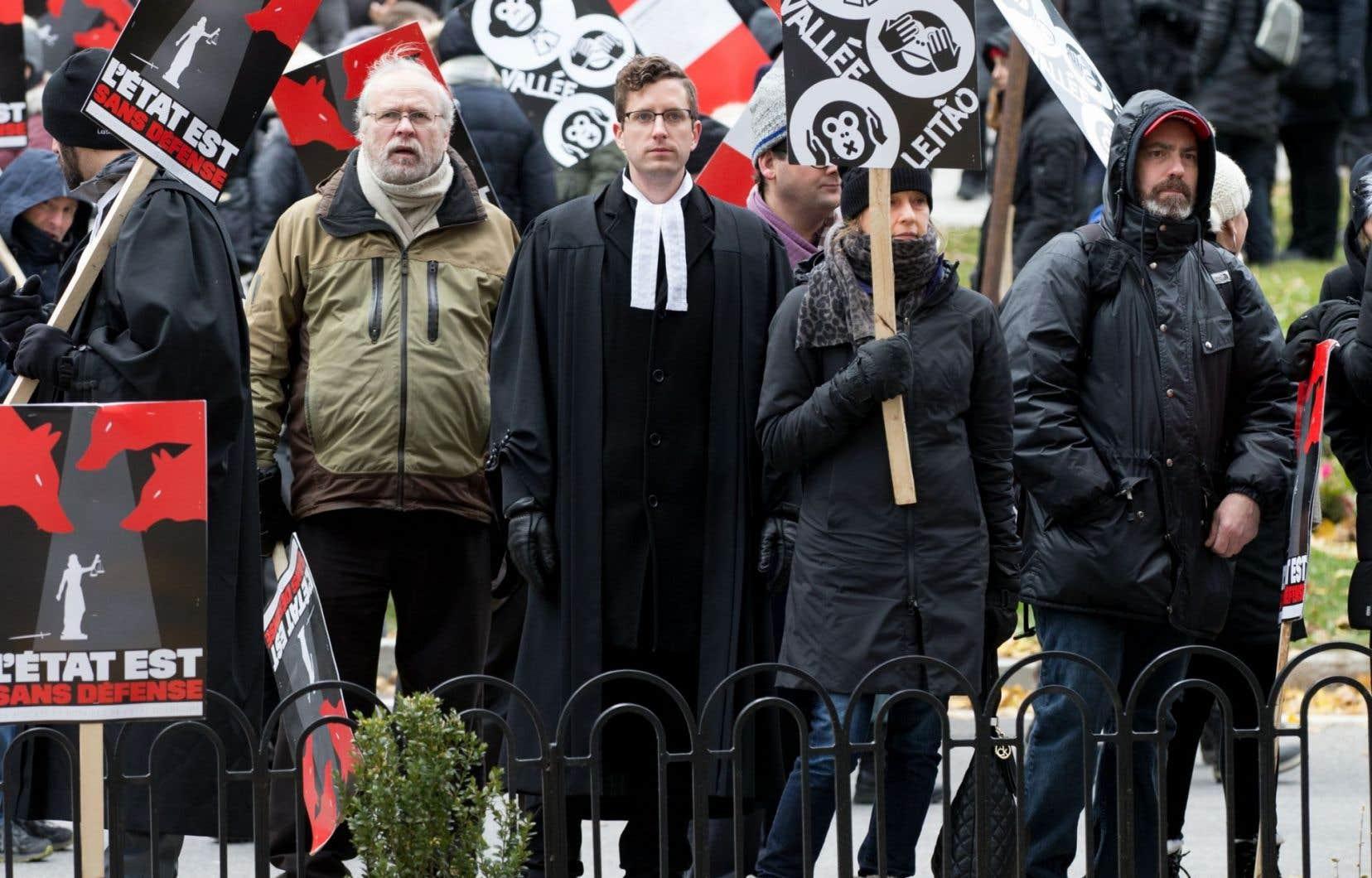 Les juristes de l'État sont en grève depuis le 24 octobre dernier.