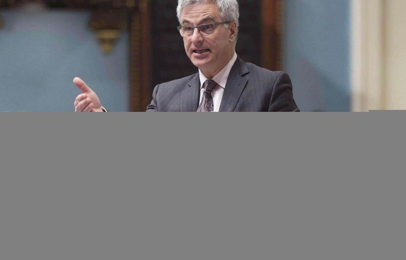 Le ministre responsable des Relations canadiennes, Jean-Marc Fournier