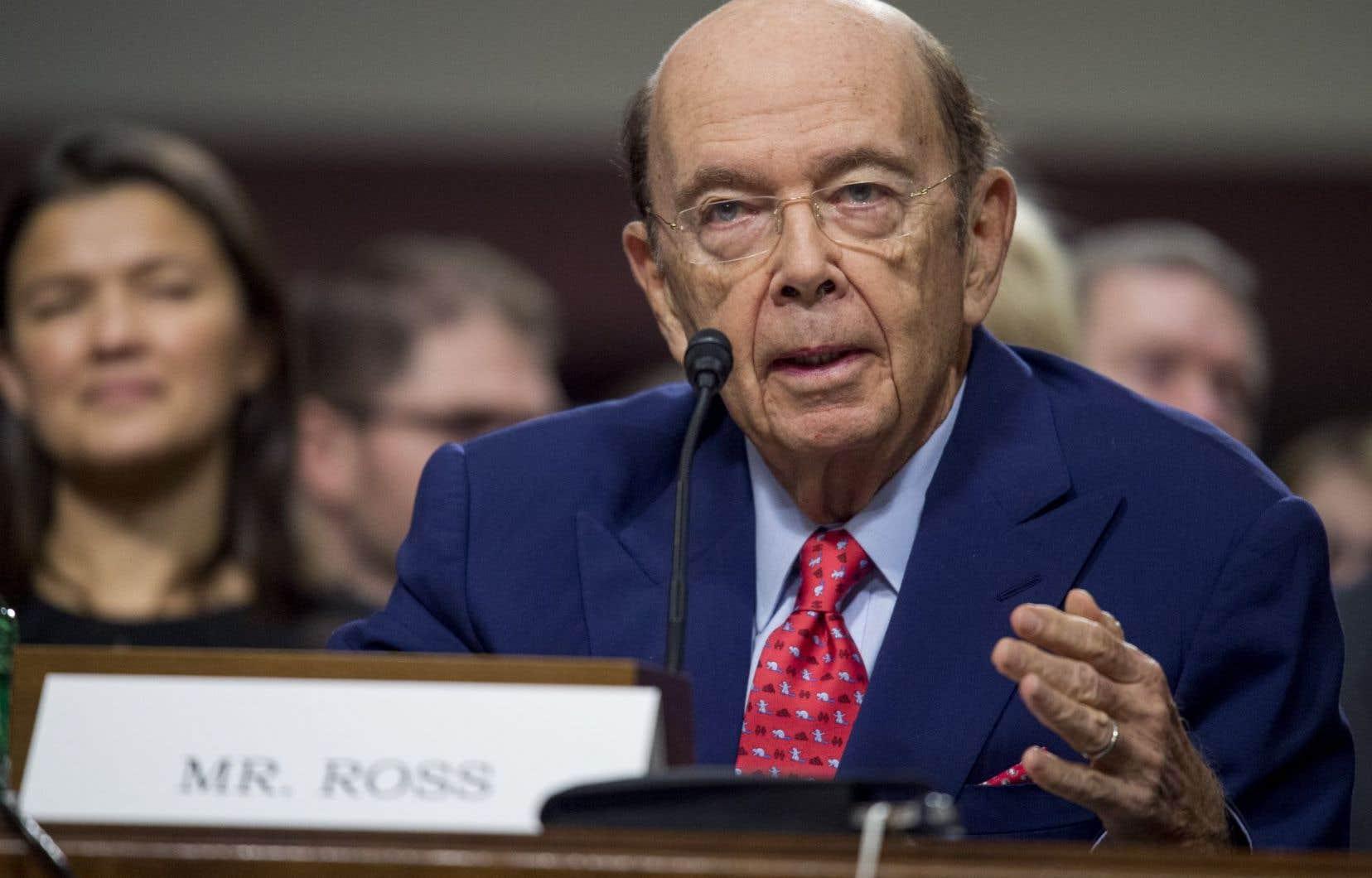 Celui que Trump voudrait voir comme secrétaire américain au Commerce, Wilbur Ross.