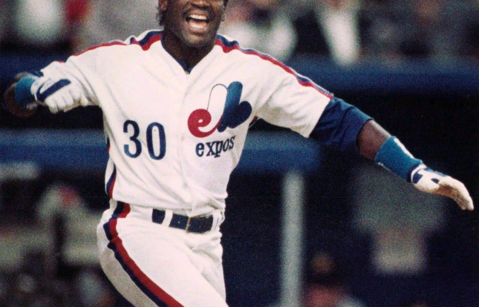 Tim Raines le4 avril 1989 à Montréal