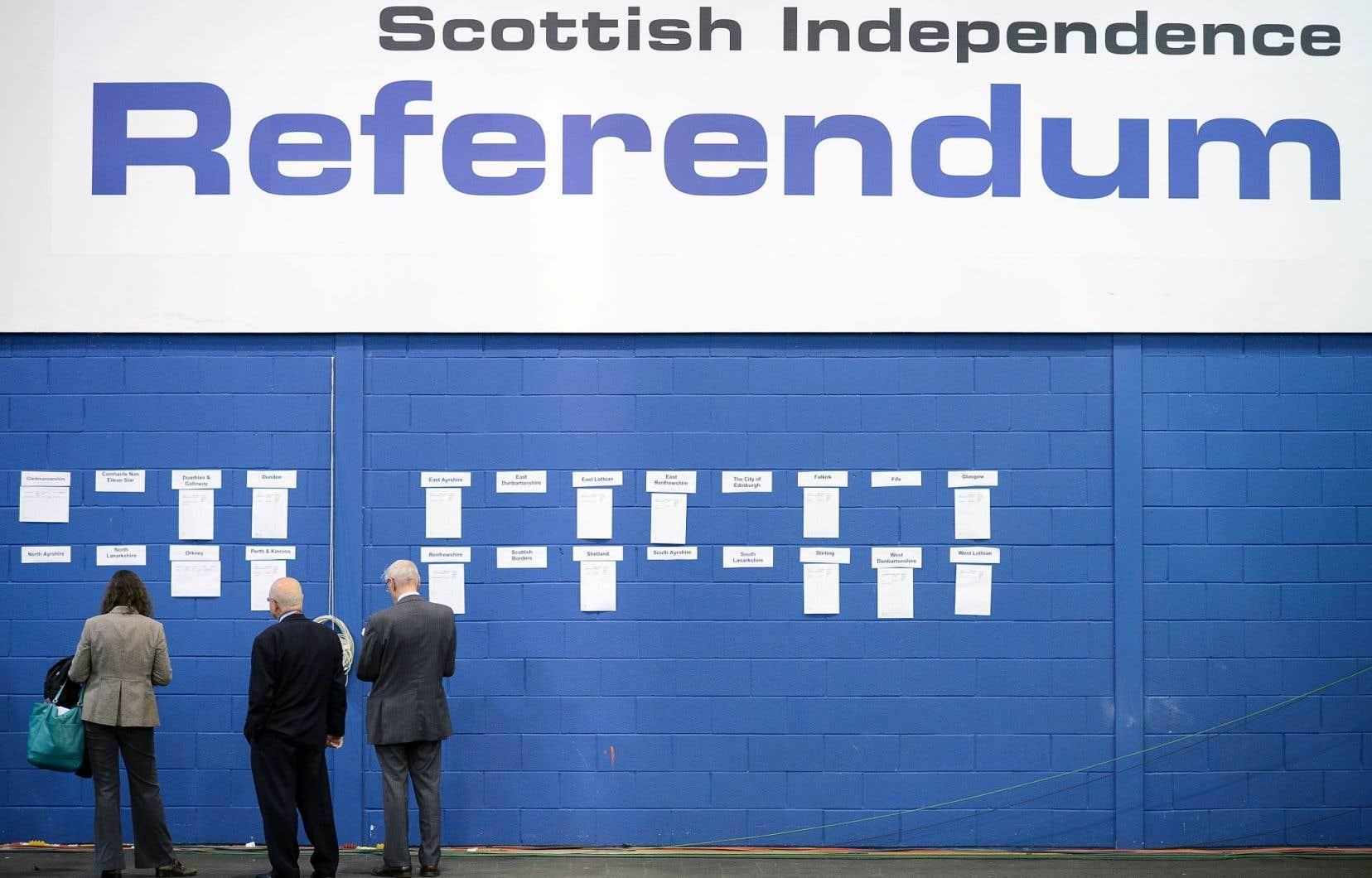 La tenue ou non d'un second référendum, le premier s'étant tenu le 18 septembre 2014 (notre photo), pourrait dépendre de l'attitude de Londres envers l'Écosse lors des négociations de sortie de l'UE.