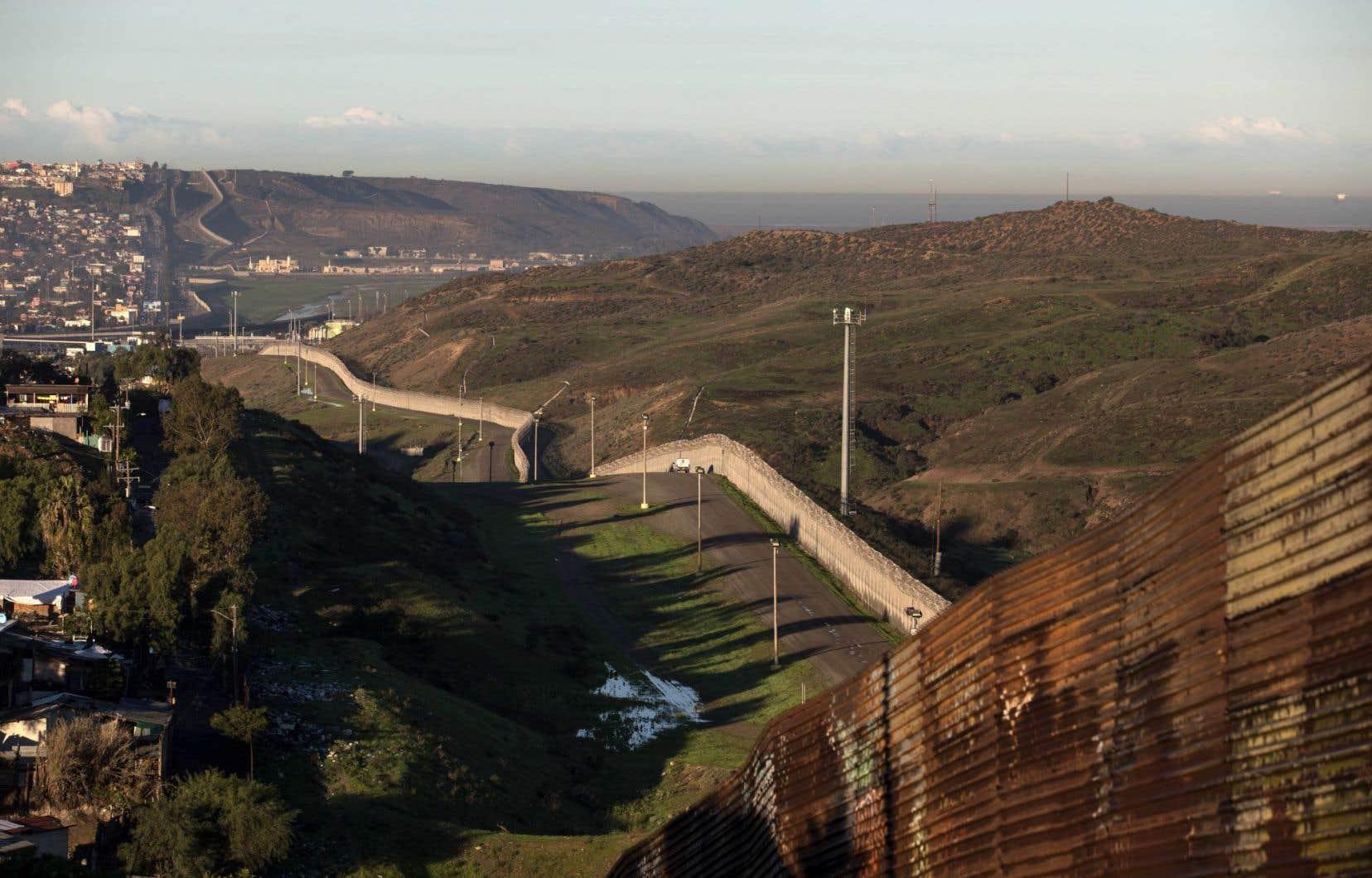 La frontière entre les États-Unis et le Mexique à la hauteur de Tijuana.