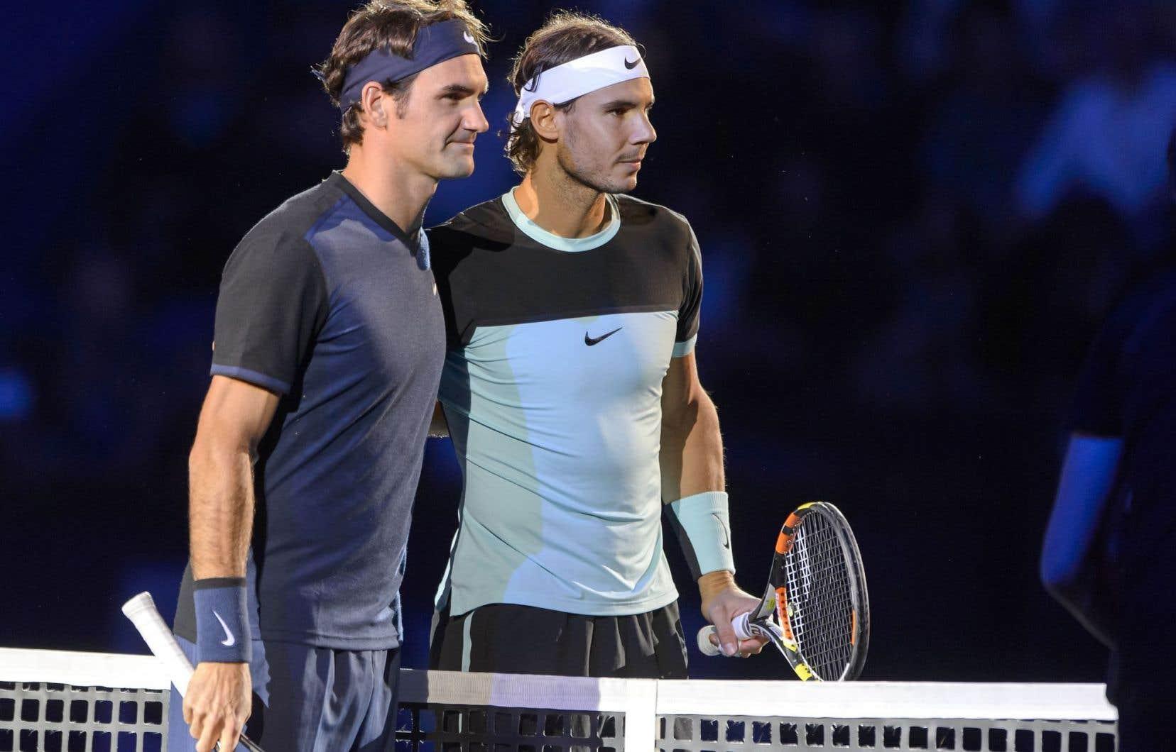 Roger Federer et Rafael Nadal s'affronteront dimanche.