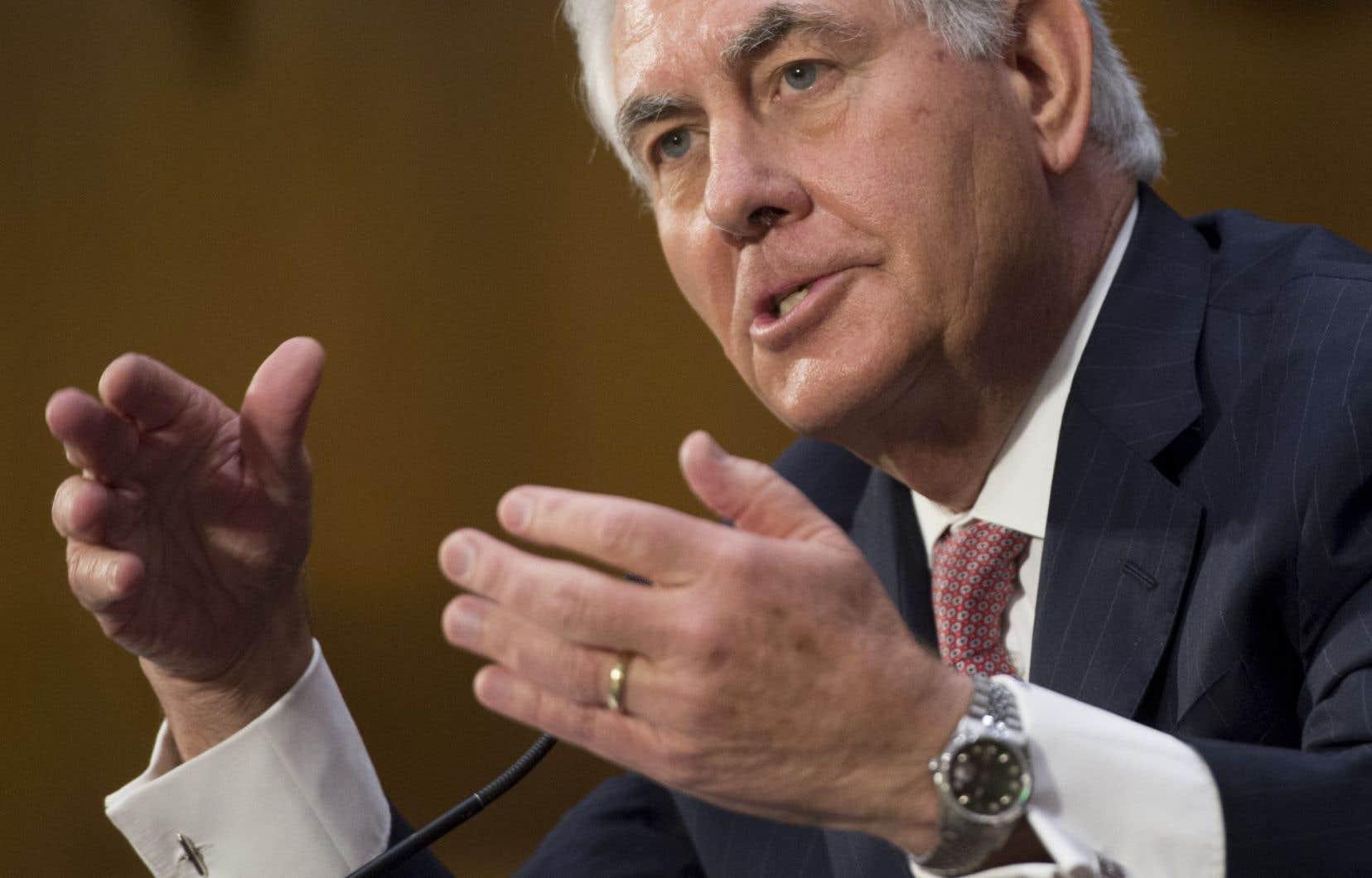Rex Tillerson, ancien p.-d.g. d'ExxonMobil et nouveau secrétaire d'État américain