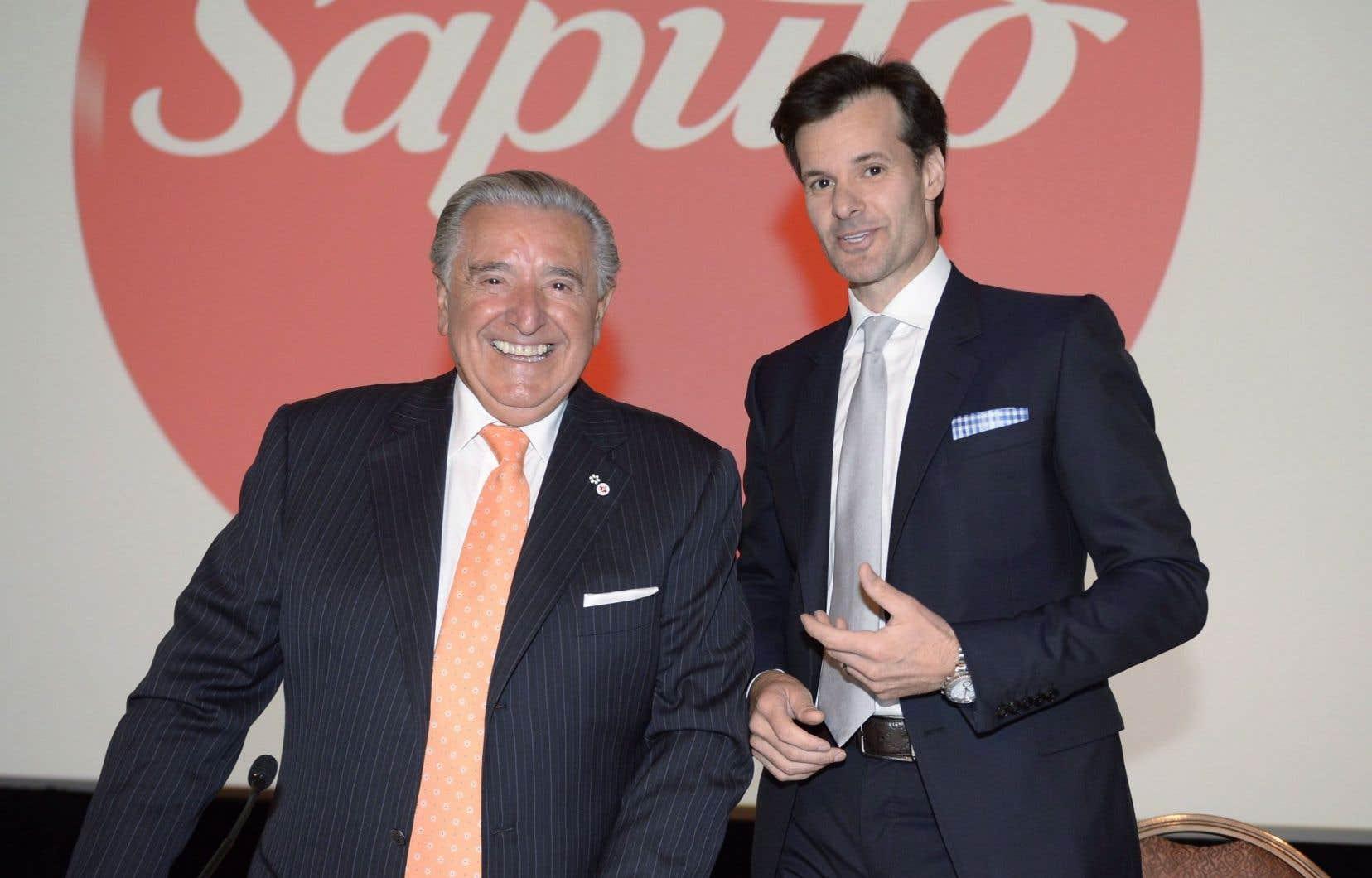 Lino Saputo, le fondateur de l'entreprise, et son fils Lino, qui a pris la relève