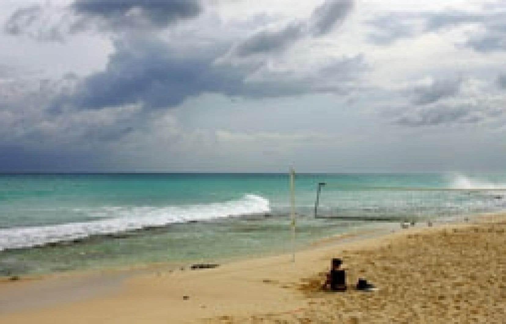 Rêverie à Playa del Carmen, à une cinquantaine de kilomètres de Cancun, au Mexique.