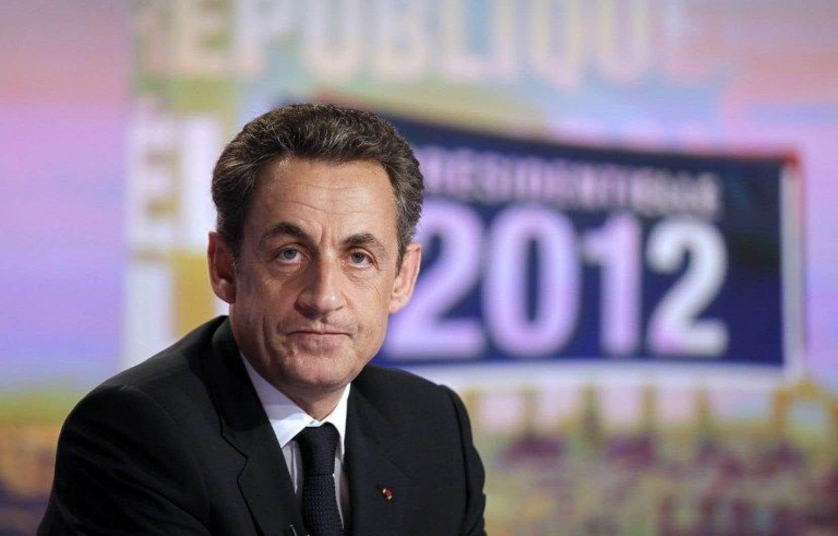L'ex-président de droite français Nicolas Sarkozy