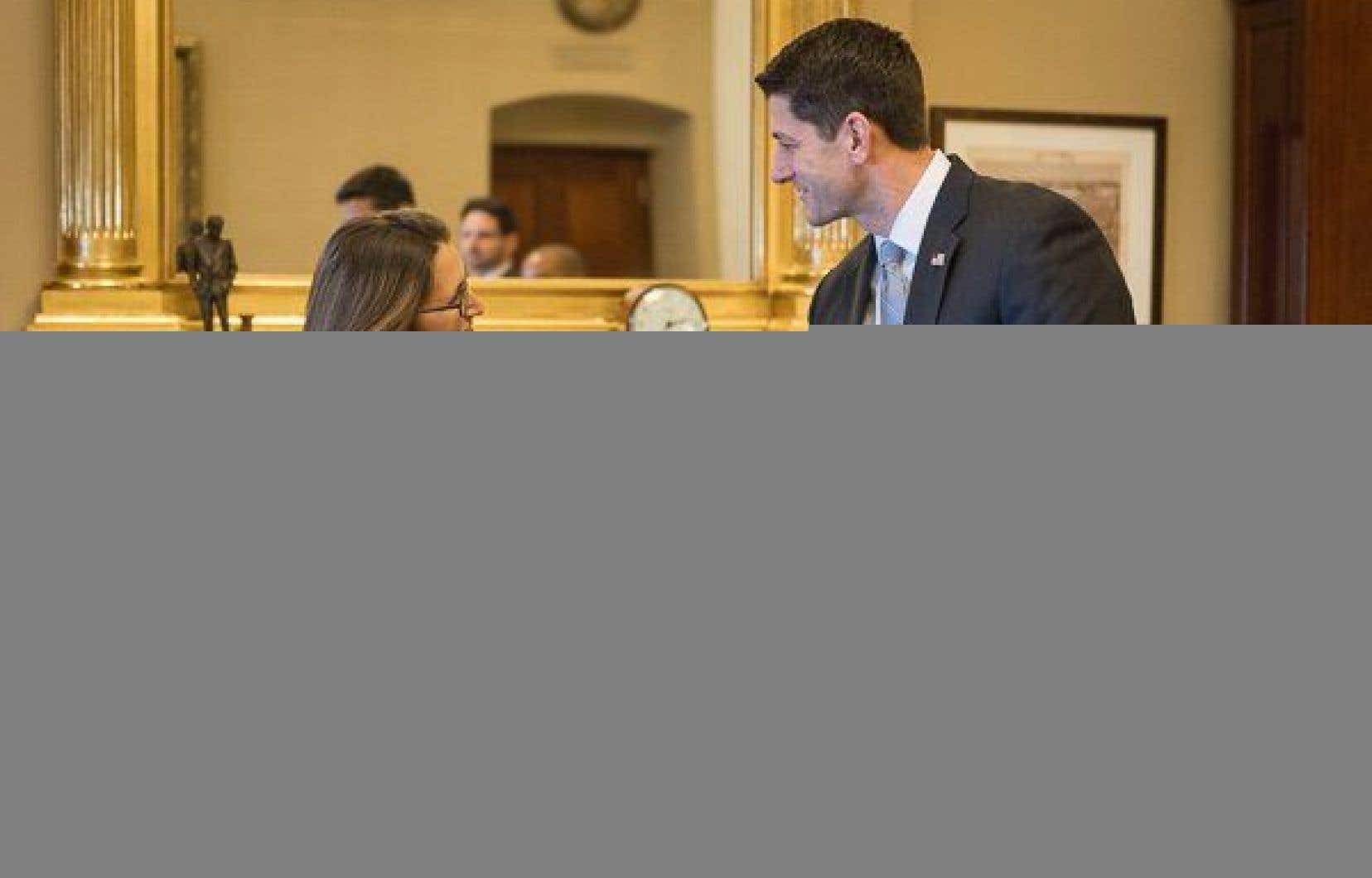 Chrystia Freeland, en compagnie du président de la Chambre des représentants, Paul Ryan