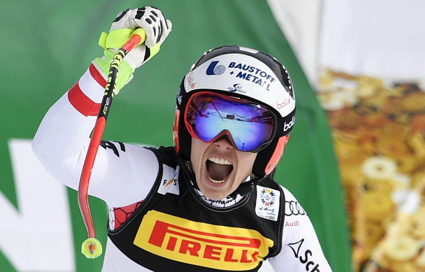 Schmidhofer n'avait obtenu qu'une deuxième place comme meilleur résultat depuis qu'elle a joint le circuit de la Coupe du monde en 2007.