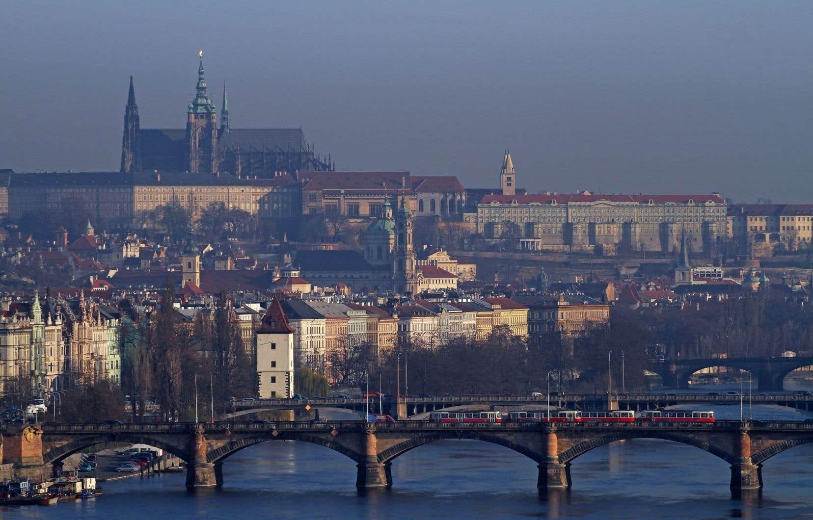 Vue de Prague, en République tchèque
