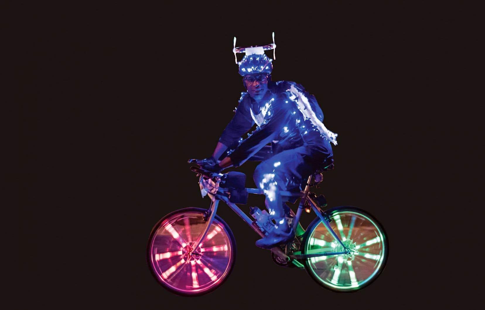 Un cycliste «illuminé» à Vélo sous zéro