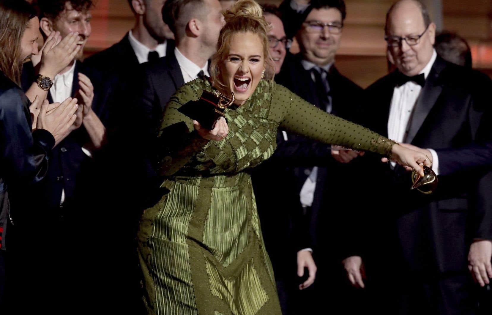 La chanteuse Adele<br /> <br />