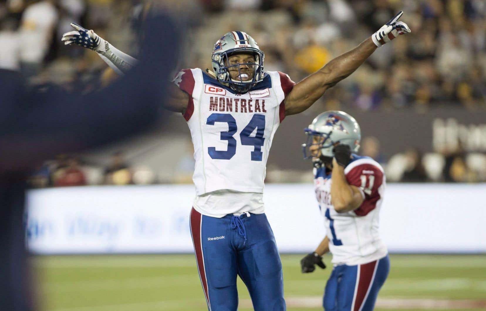 En cinq saisons à Montréal, l'ancien de l'Université de Louisiane à Lafayette a totalisé 281 plaqués défensifs et 43 plaqués au sein des unités spéciales.