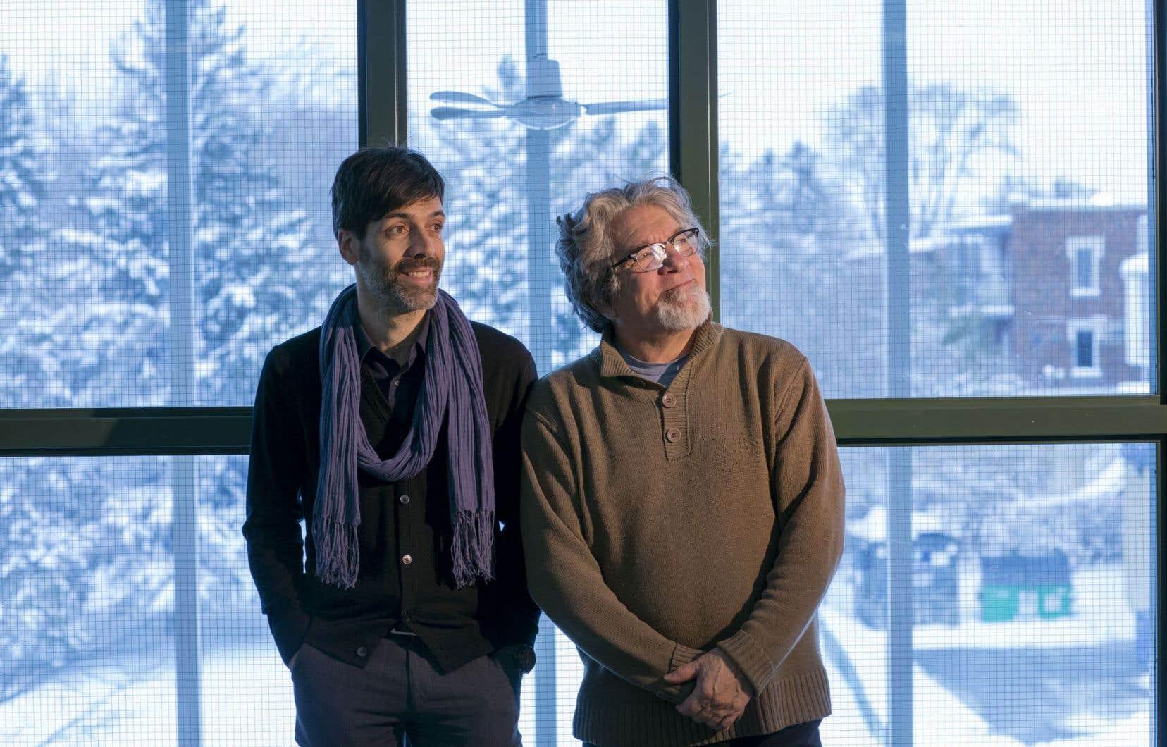 Sébastien Nasra, fondateur et producteur exécutif de Mundial Montréal, et Gilles Garand, président de la Grande Rencontre et de Folquébec