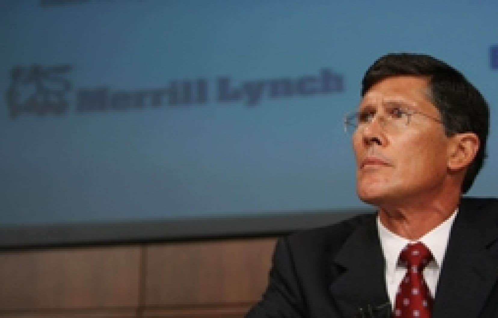 John Thain, le patron de Merrill Lynch surclasse ses pairs avec un salaire de 83 millions.