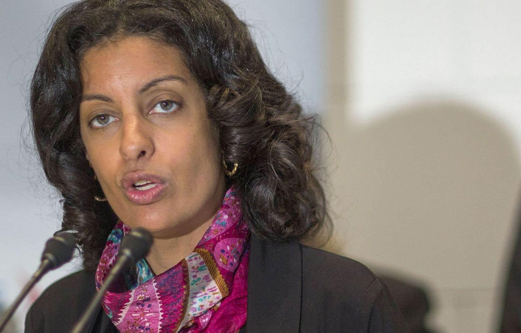 La ministre de l'Économie, de la Science et de l'Innovation, Dominique Anglade