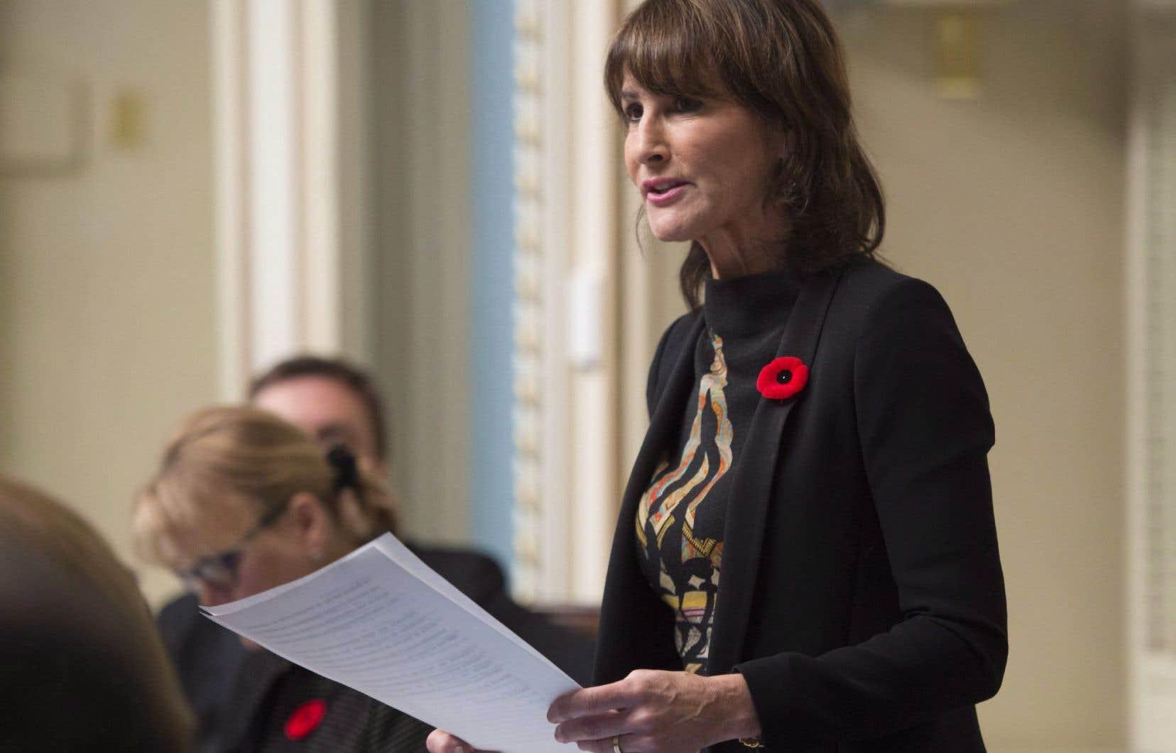 La ministre québécoise de l'Immigration,Kathleen Weil