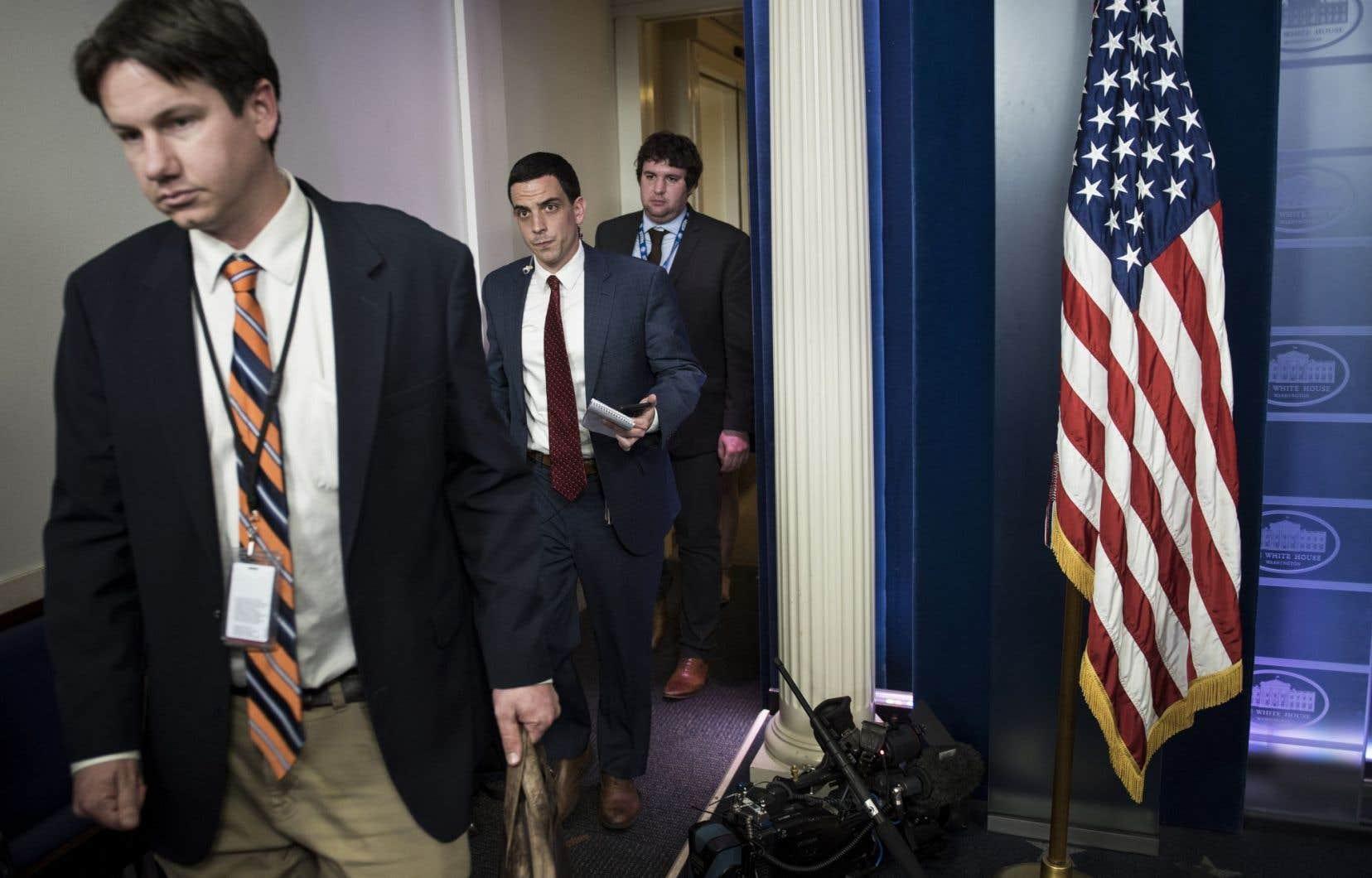 Plusieurs médias américains se sont vu refuser l'accès au point de presse de la Maison-Blanche.