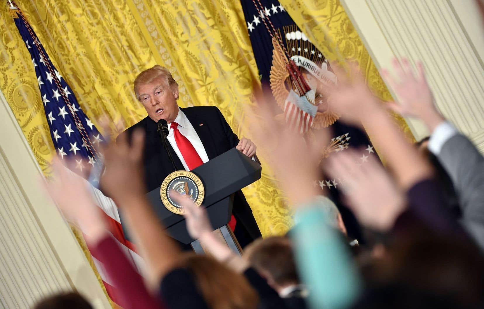 Trump a déclaré en janvier être en «guerre ouverte» avec les médias, les qualifiant, entre autres, de «malhonnêtes», de «parti de l'opposition».