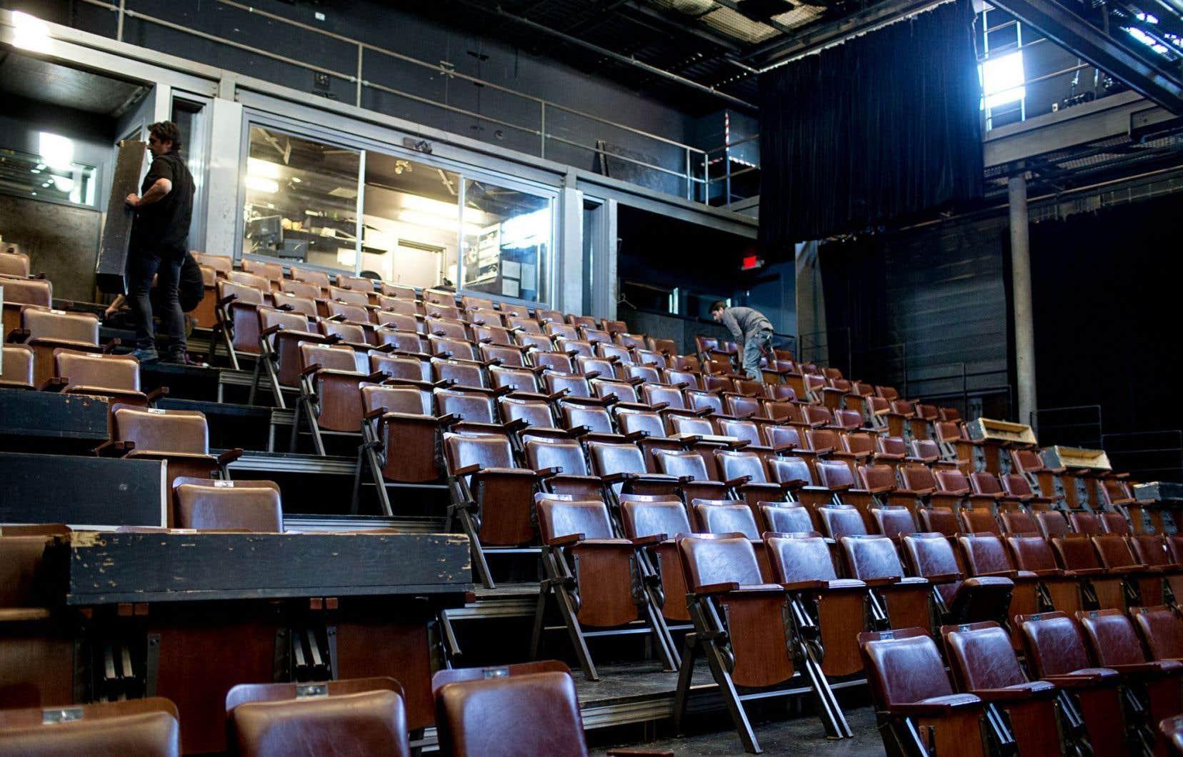 Les sièges de la salle de spectacle de l'Espace Go vont être entièrement rénovés à la suite des travaux.
