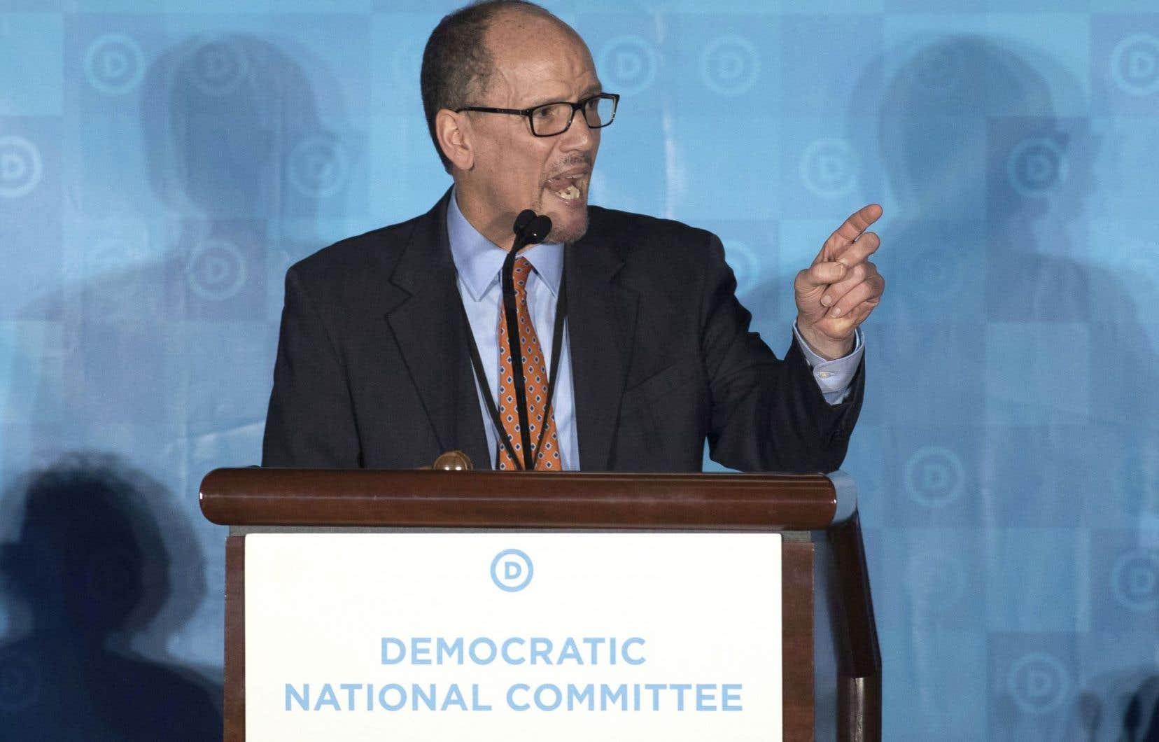 Tom Perez est devenu, à 55ans, le premier Hispanique à prendre la tête du parti démocrate.