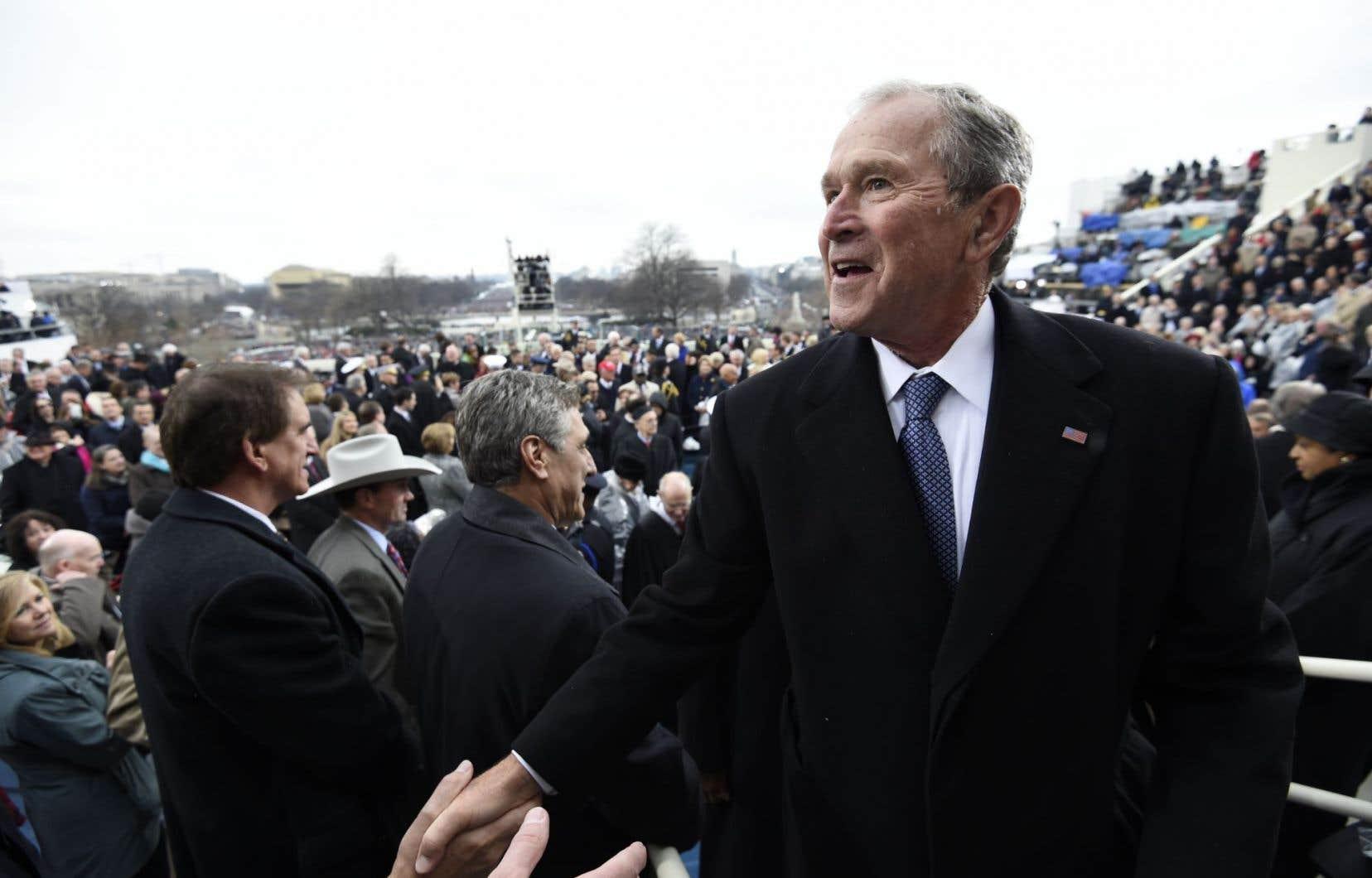 L'ancien président américain George W. Bush lors de l'intronisation de Donald Trump, en janvier dernier