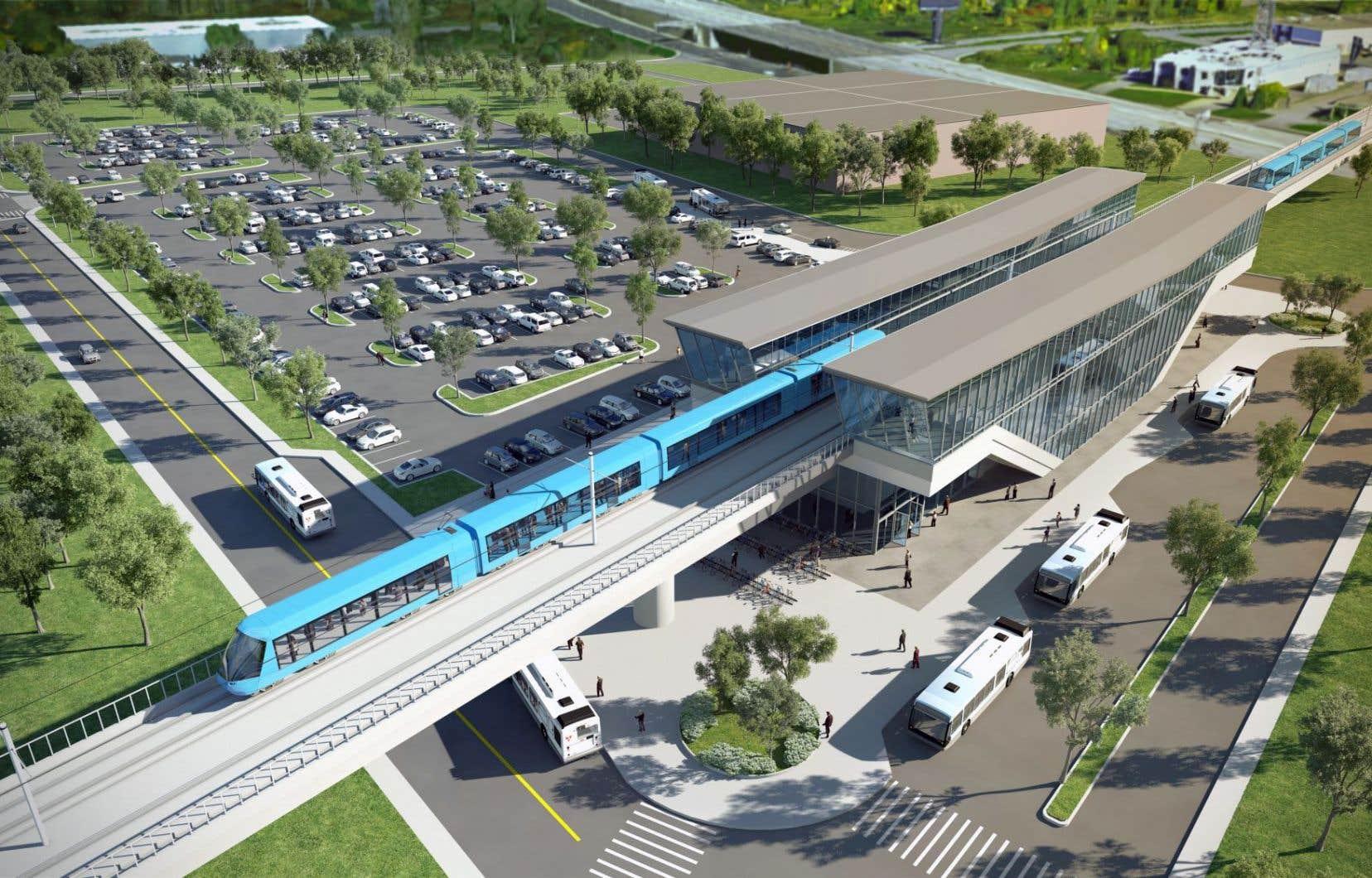 <p>Selon l'IRIS, le REM sert davantage les intérêts de la Caisse que les Montréalais et les usagers du transport en commun.</p>