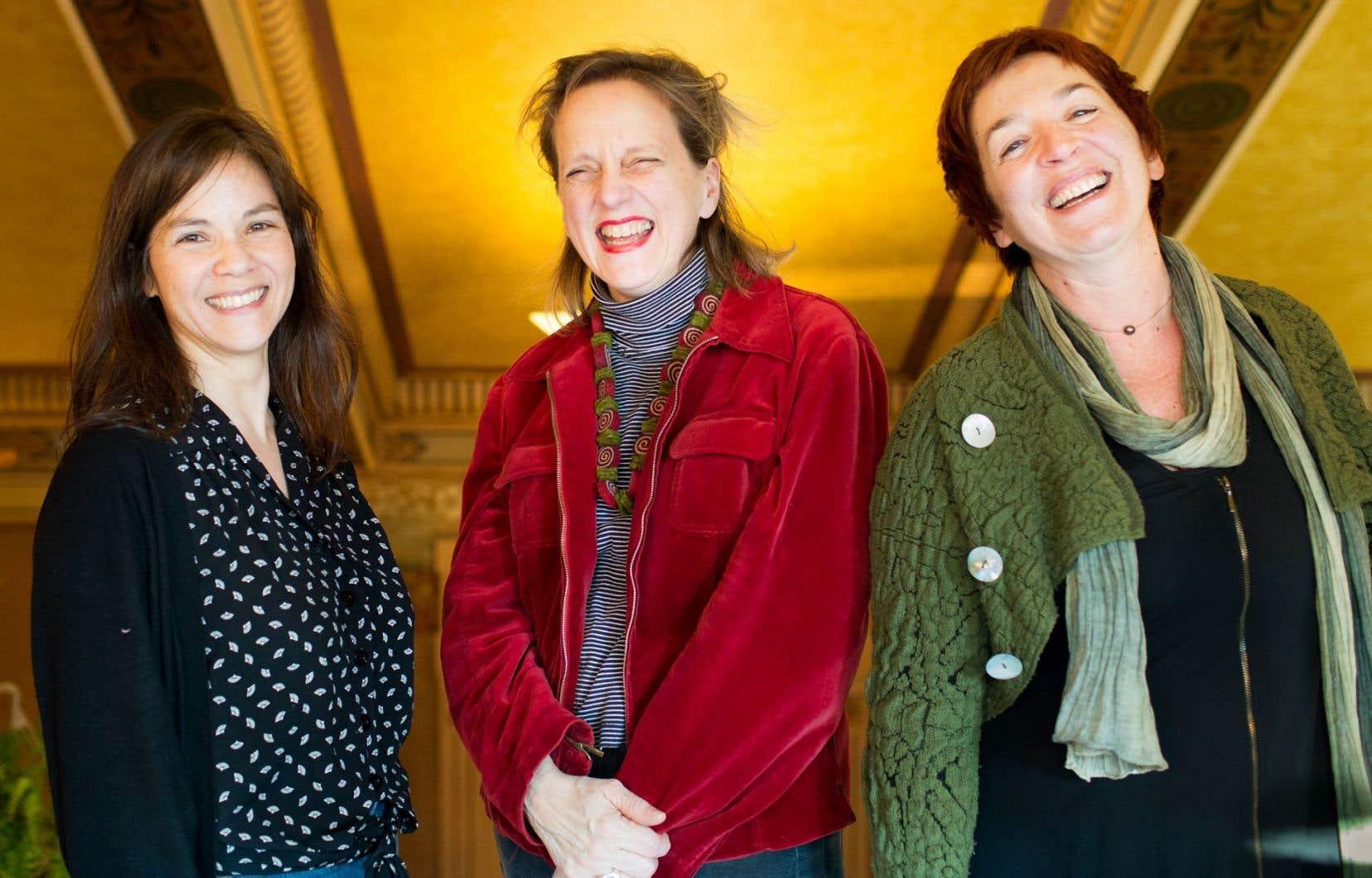 Marie-Christine Lê-Huu, Louise Lapointe et José Babin incarnent chacune à leur manière l'esprit de Casteliers.