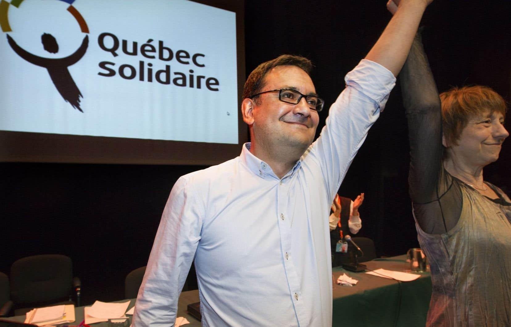 Andrés Fontecilla a succédé à Amir Khadir au poste de président et porte-parole de QS en 2013.