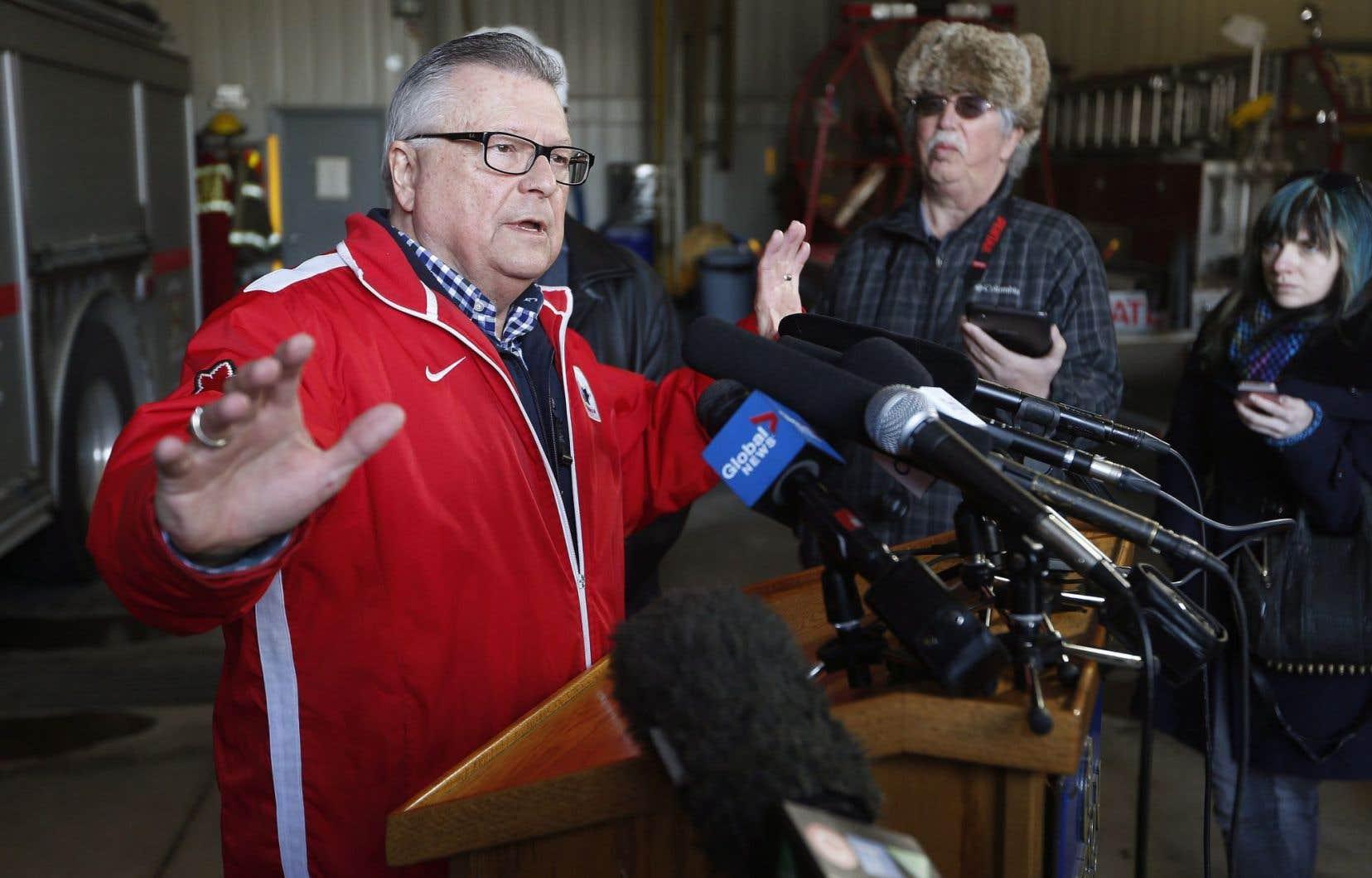 Le ministre canadien de la Sécurité publique, Ralph Goodale