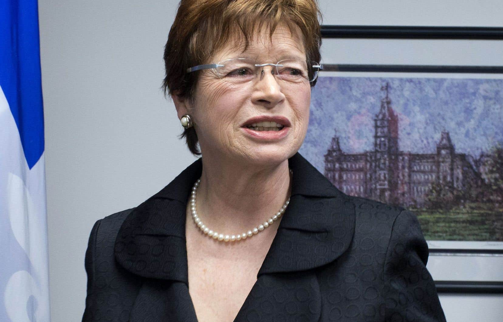L'initiative a germé dans la tête de l'ex-ministre de l'Éducation péquiste Marie Malavoy, que l'on voit ici en 2014.