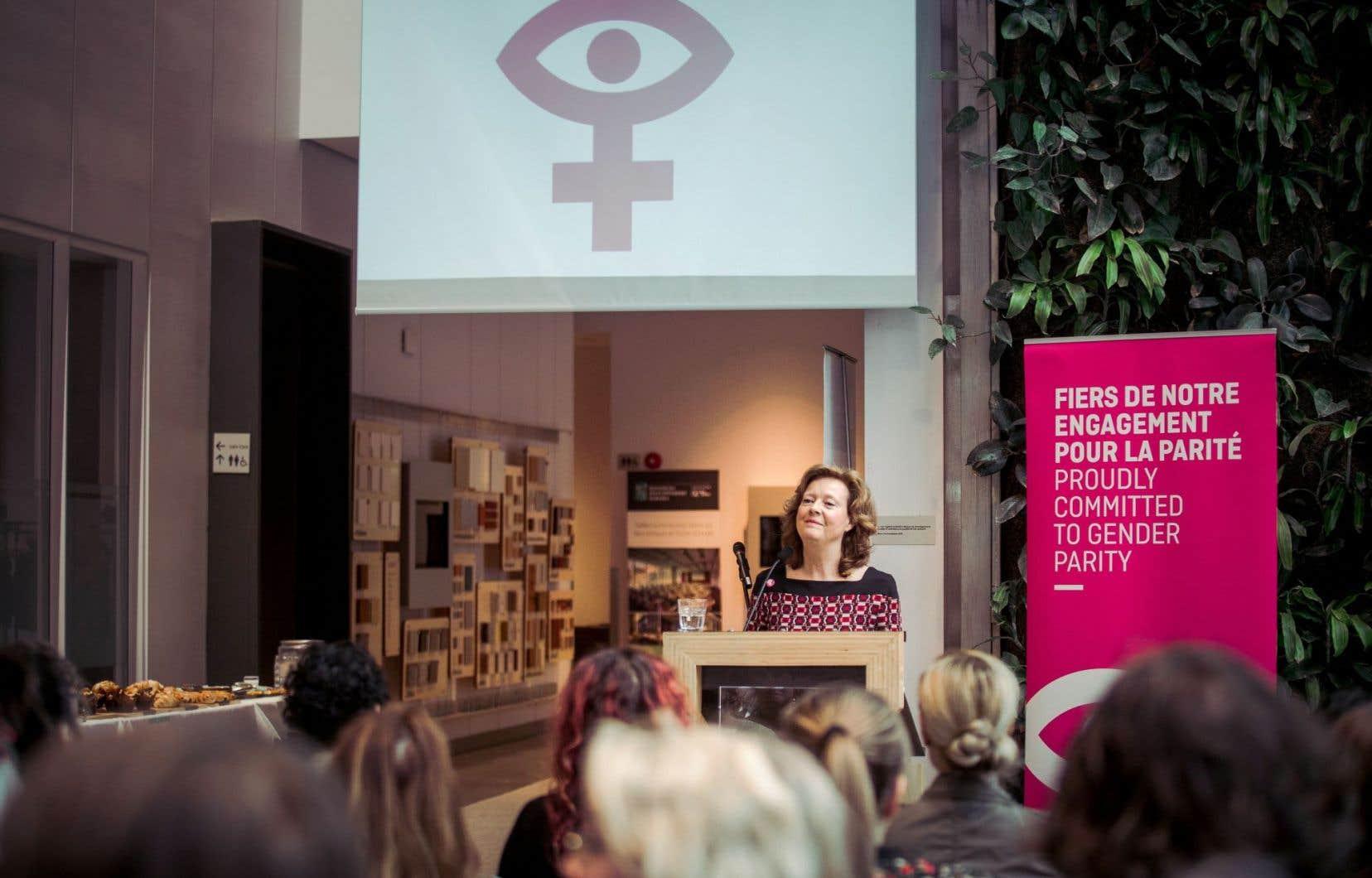 Michèle Bélanger, directrice générale de la programmation et de la production au programme français, annonçait mardi que l'ONF irait encore plus loin dans son engagement pour la parité.