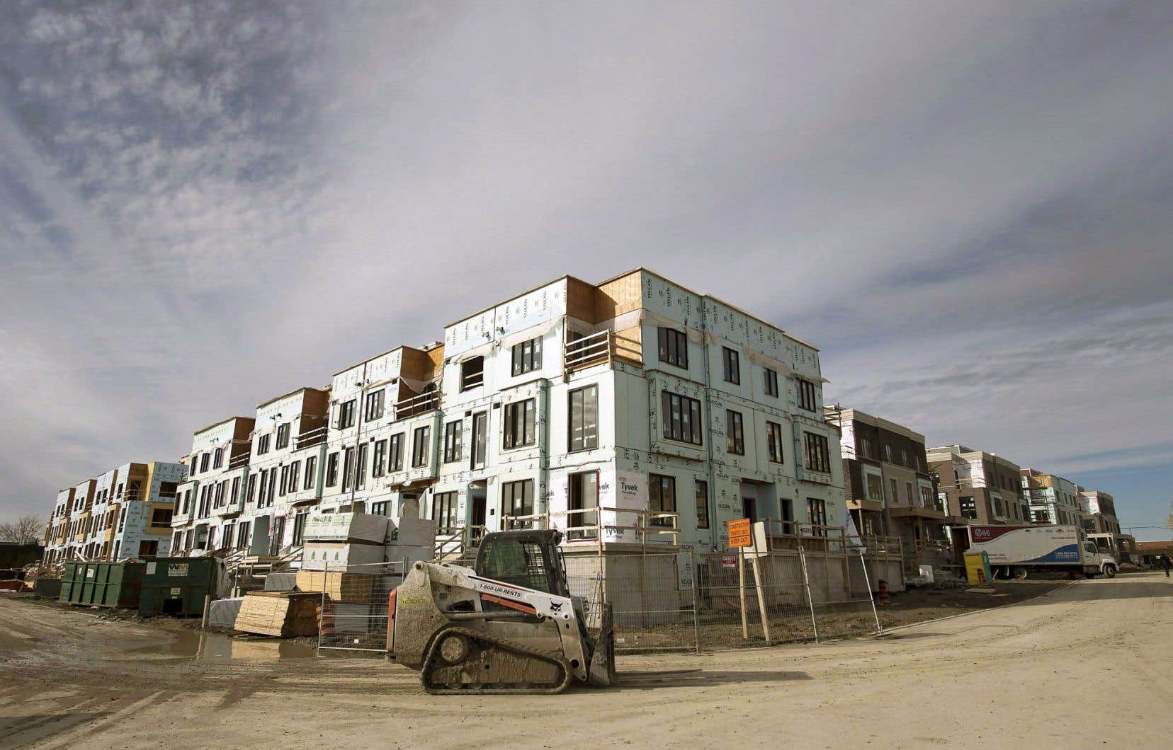 Maisons de ville en construction dans la région de Toronto