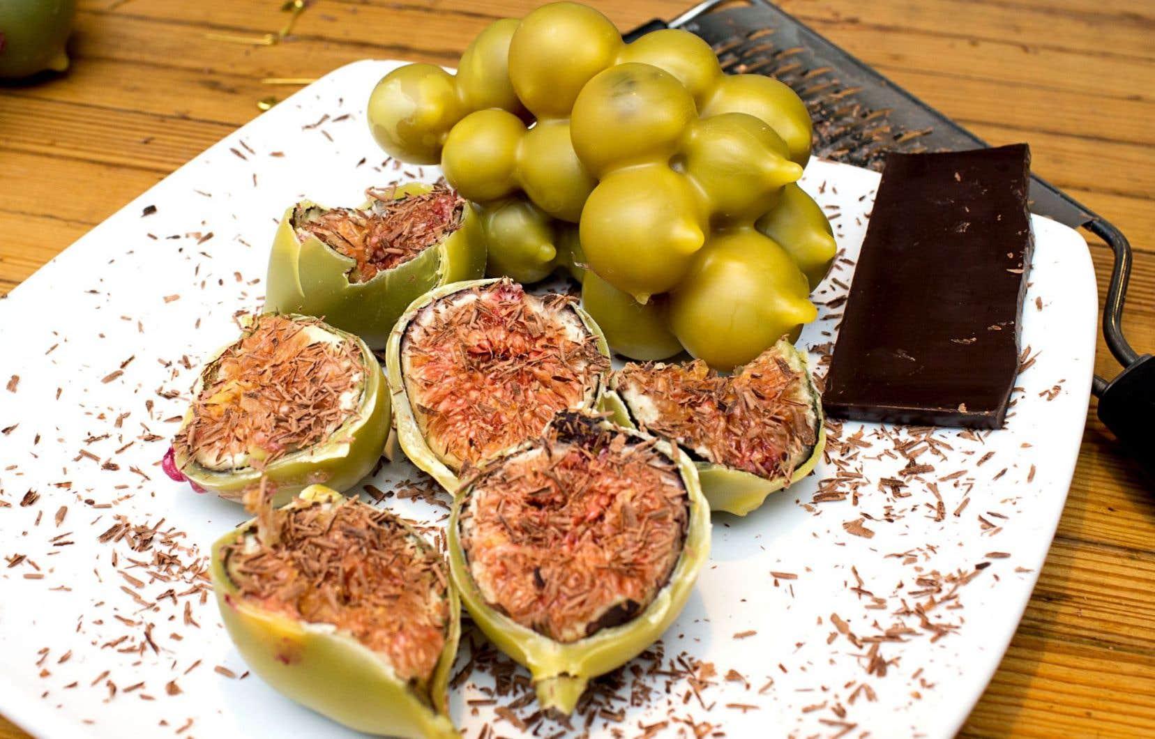 Figues et raisins vinifiés en cire d'abeile