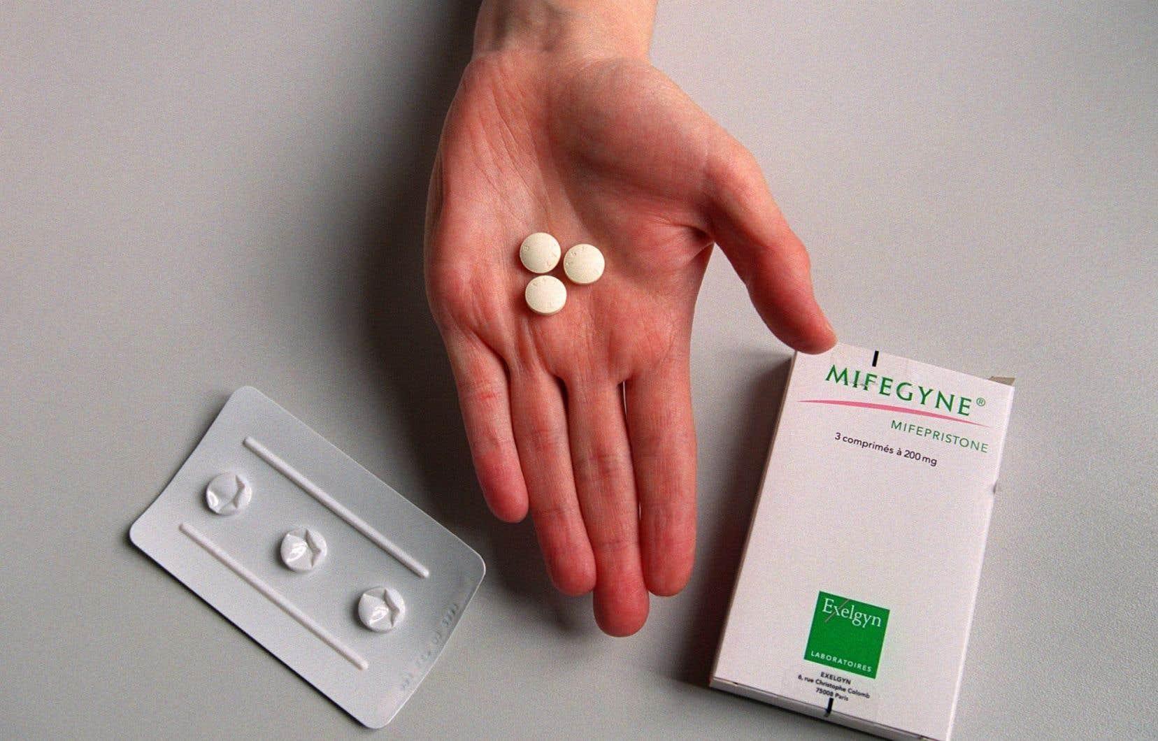 Pilule abortive, vendue sous le nom de Mifégyne en Europe
