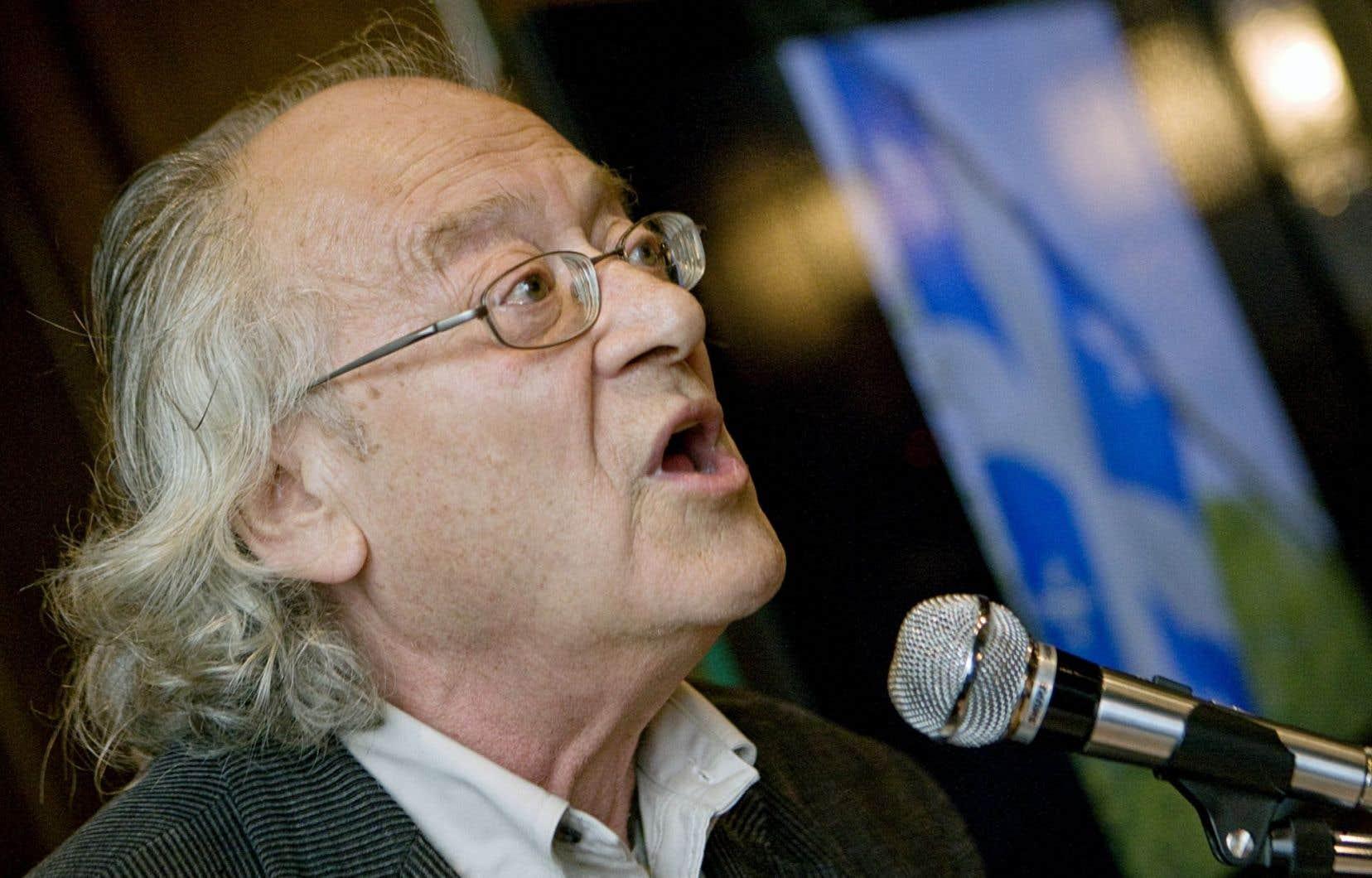 Le poète Raôul Duguay en 2011