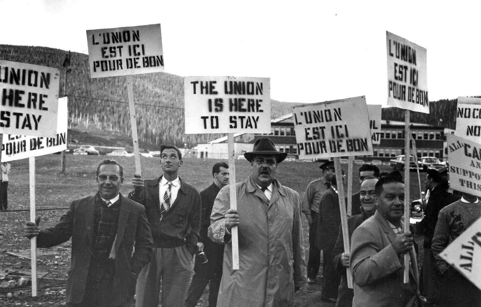 La grève de 1957 des ouvriers de la mine de Murdochville était considérée comme illégale. Le conflit a duré sept mois.