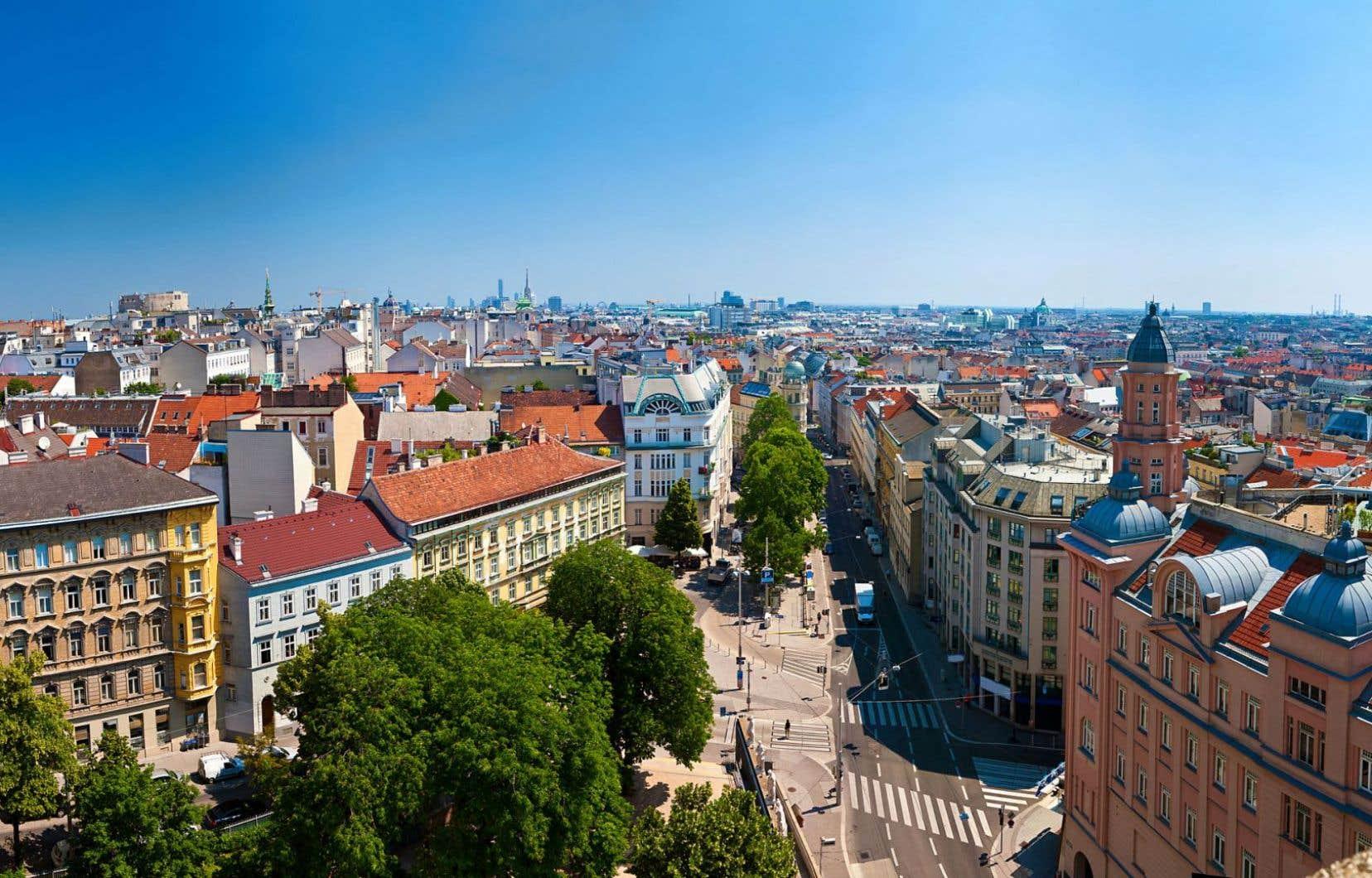 Vue sur Vienne, en Autriche. Le classement s'appuie autant sur les conditions sociales et économiques que sur les services publics, entre autres facteurs.