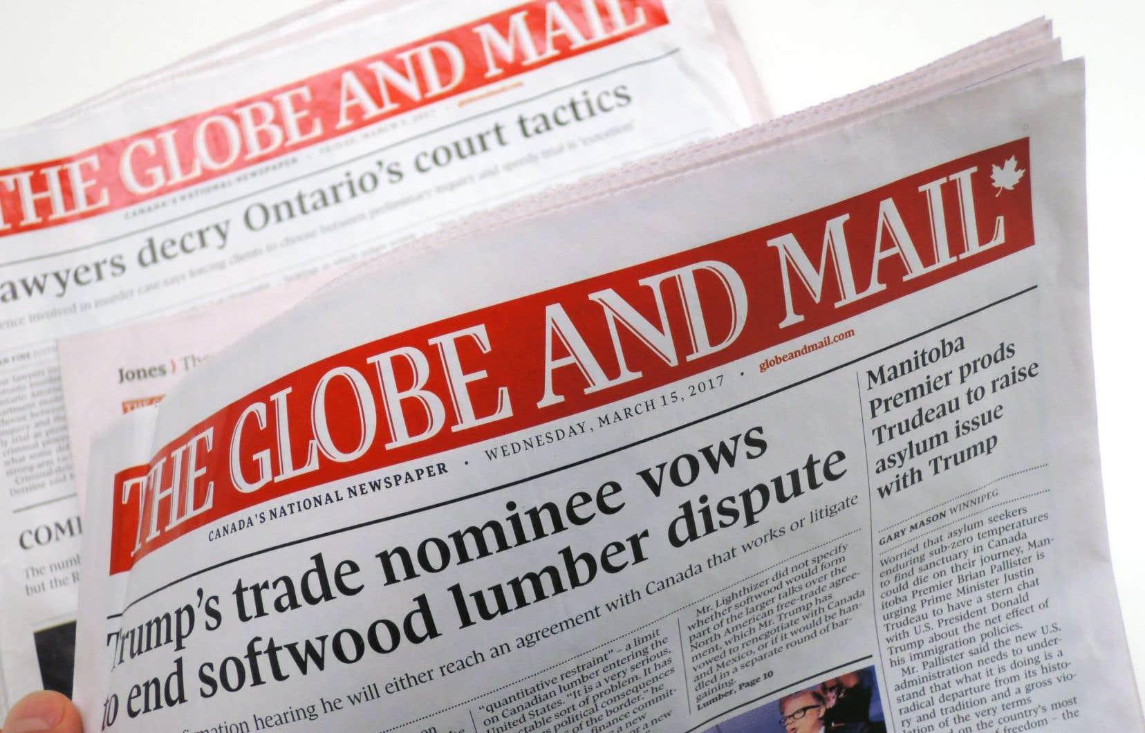 Le «Globe and Mail» a maintenu des bureaux parlementaires dans certaines provinces au Canada, comme l'Ontario et la Colombie-Britannique.