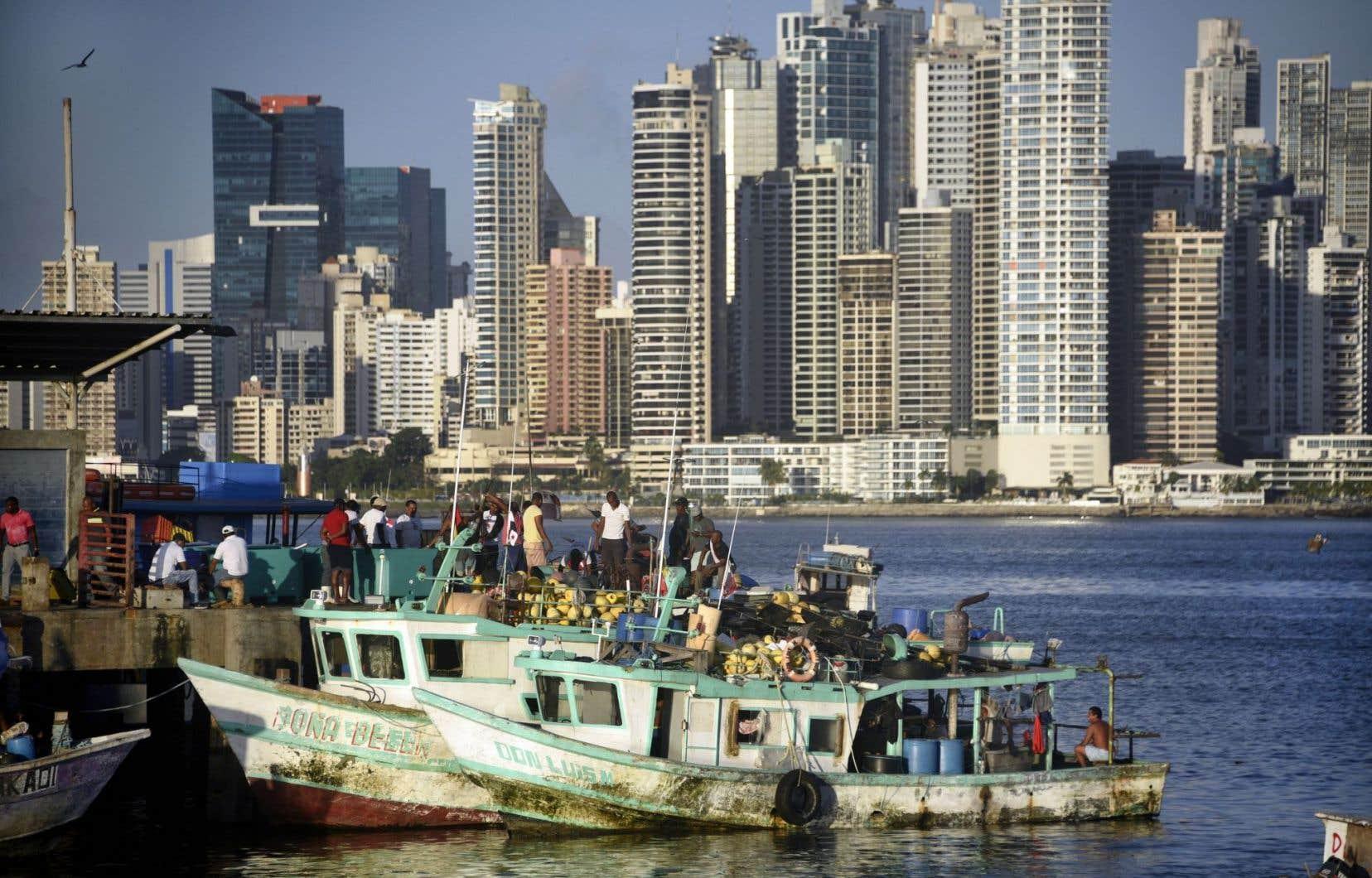 La baie de Panama devant la ville du même nom